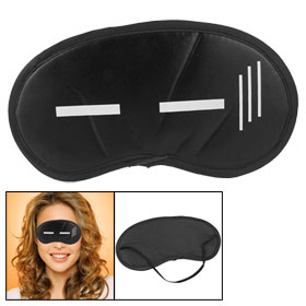 Cartoon Expression Black Nylon Travel Eye Shade Sleep Mask