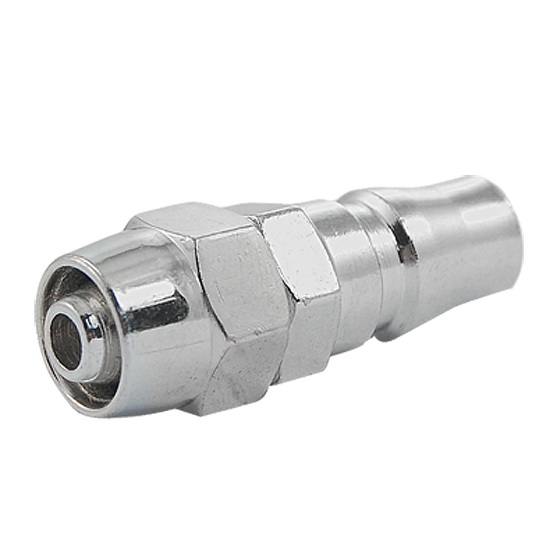 "PP30 1/4"" x 7/16"" Pneumatic Fittings Quick Coupler Silver Tone"