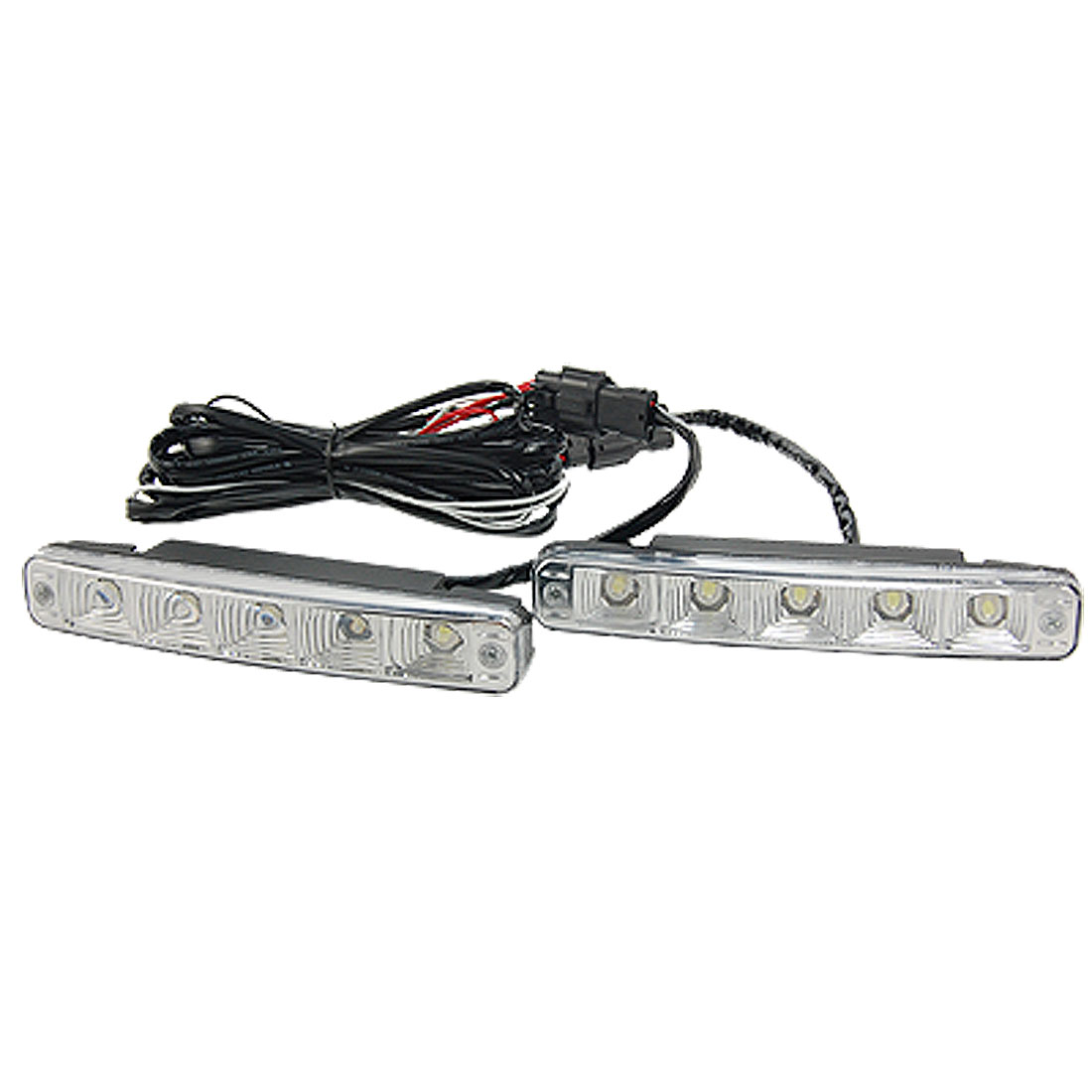 2 Pcs Car 5W White 5 LED Daytime Running Light DRL Fog Day Driving Daylight