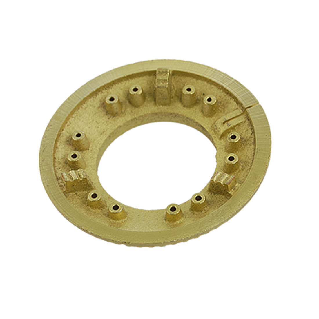 "Gas Cooker Fire Separator 2 1/4"" Brass Burner Head Gold Tone"