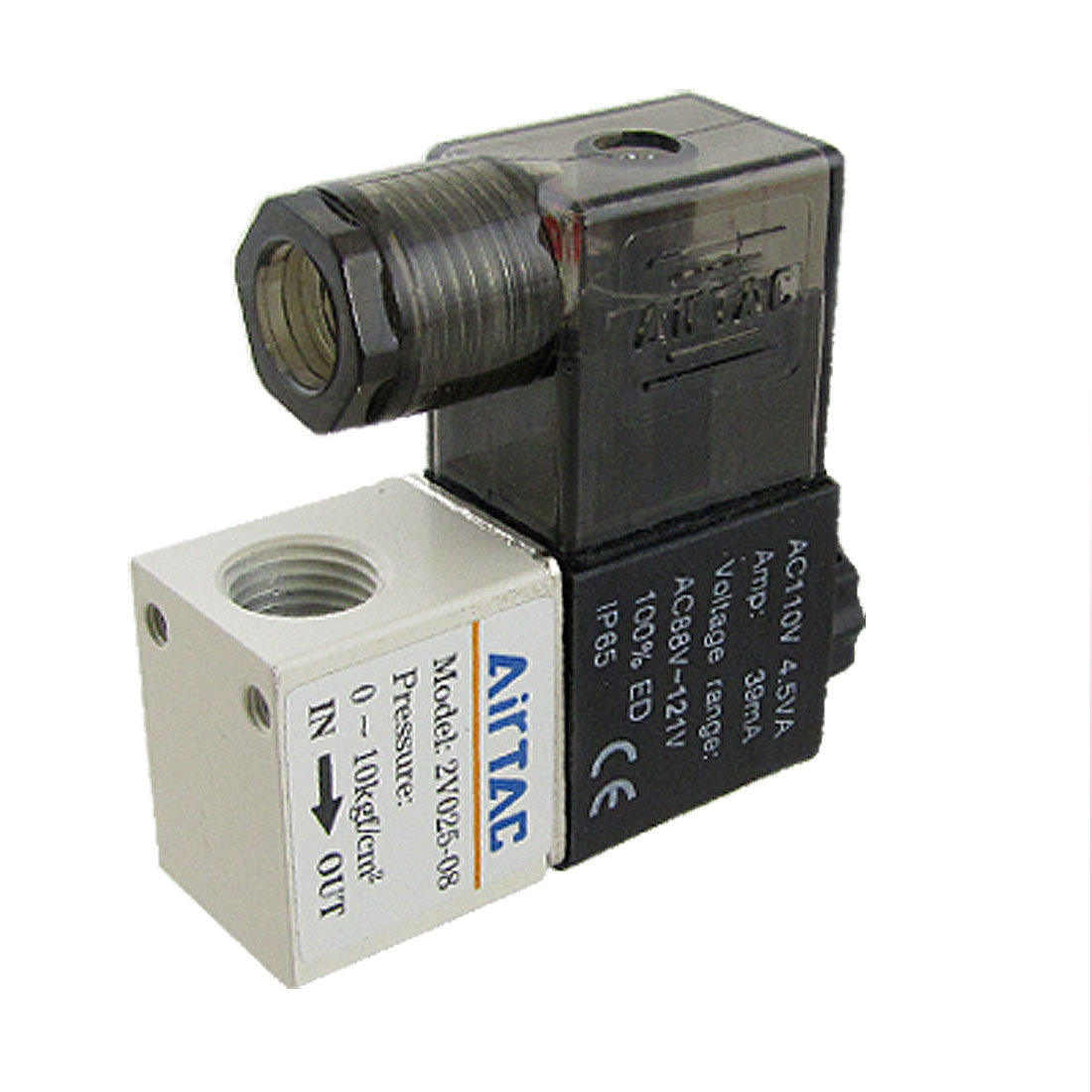 2V025-08 AC 110V 39mA 2 Position 2 Way Pneumatic Solenoid Valve