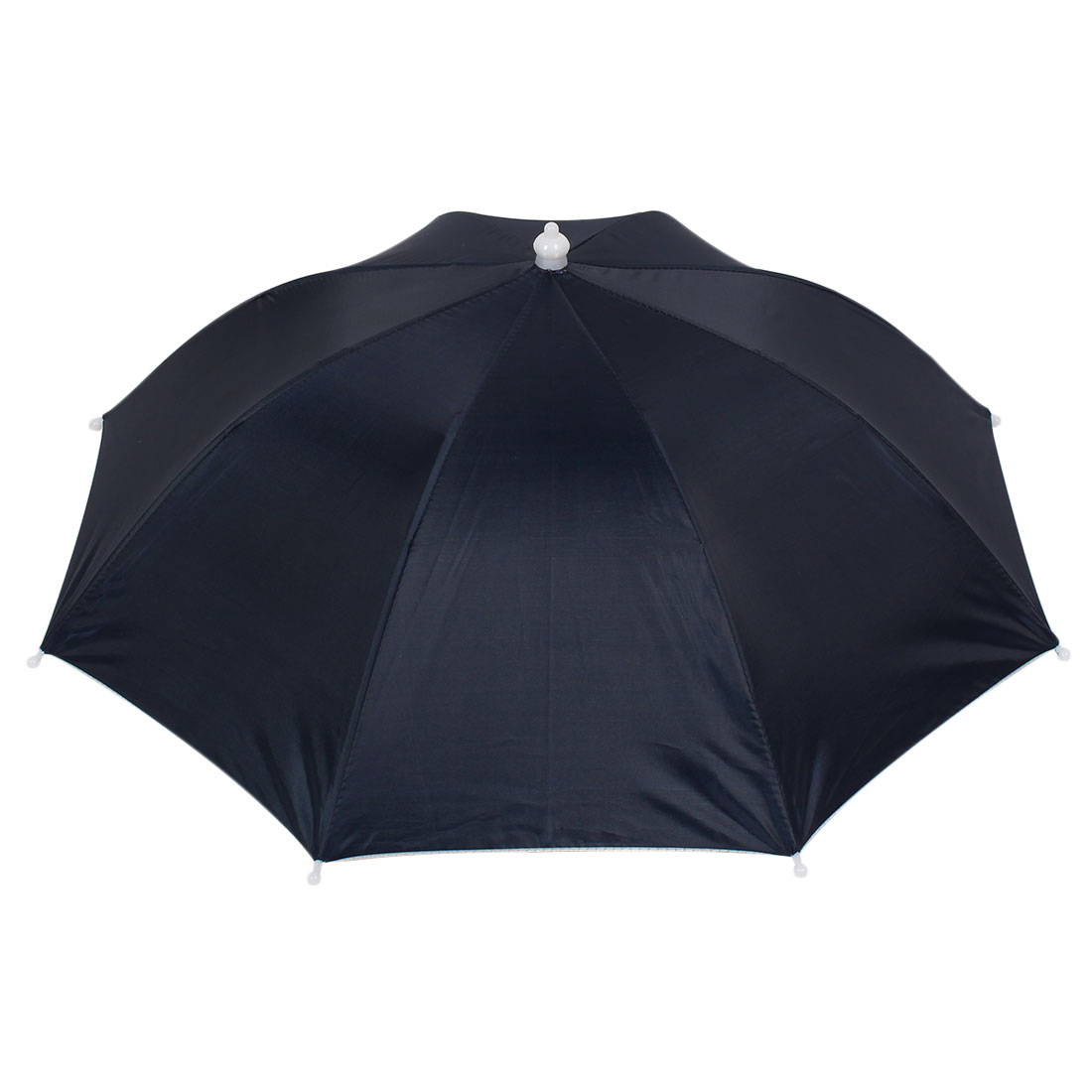 Fishing Dark Blue Canopy 8 Ribs Elastic Head Band Umbrella