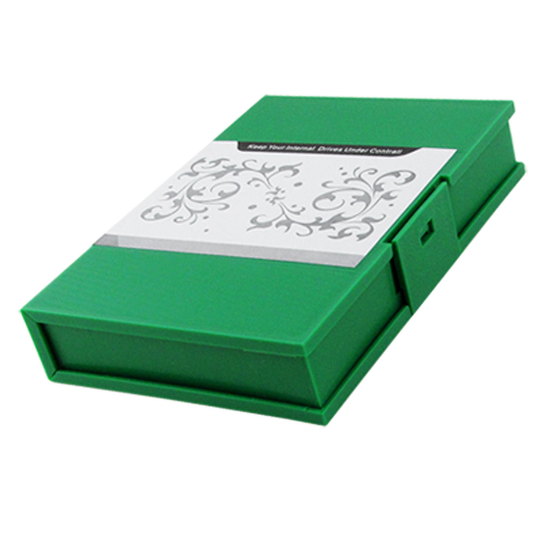"3.5"" HDD External Enclosure Rectangular Hard Plastic Case Green"