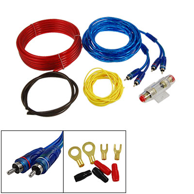 Auto Car Audio Fuse Holder 4 Pcs Cables Amplifier Wiring Kit