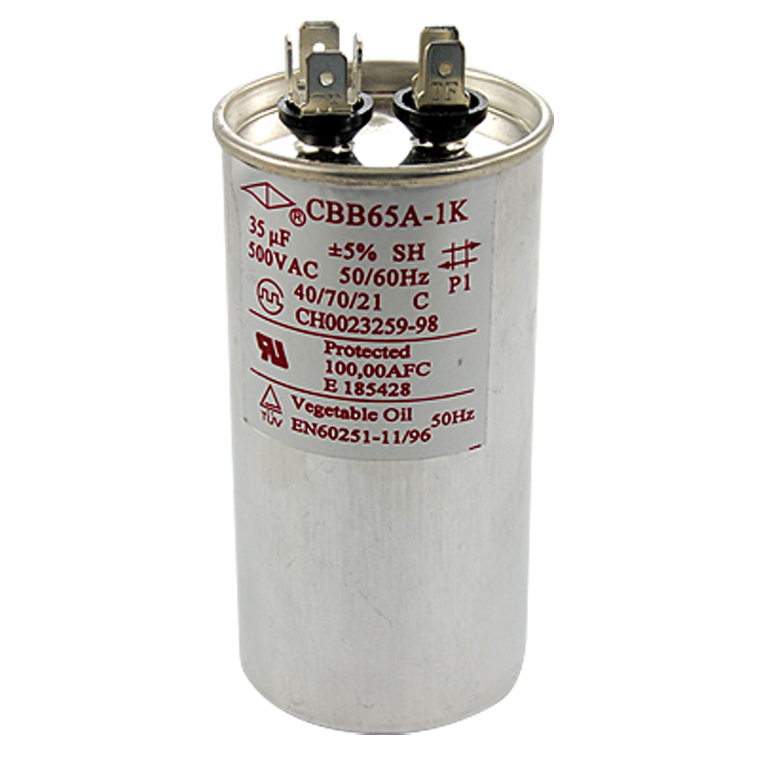 CBB65A Motor Air Conditioner Capacitor 35uF AC 500V