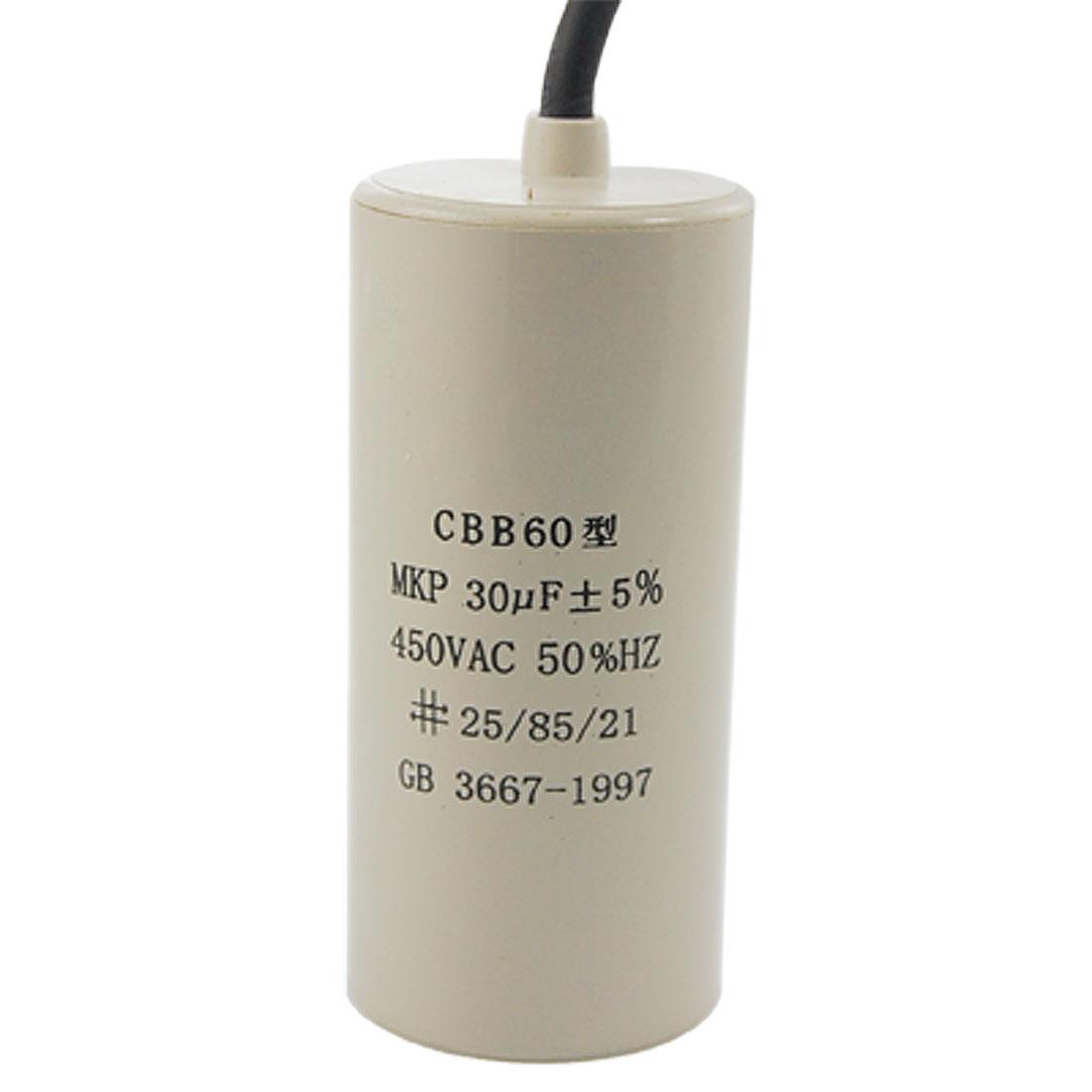 CBB60 30uF Washing Machine Polypropylene Film Motor Capacitor