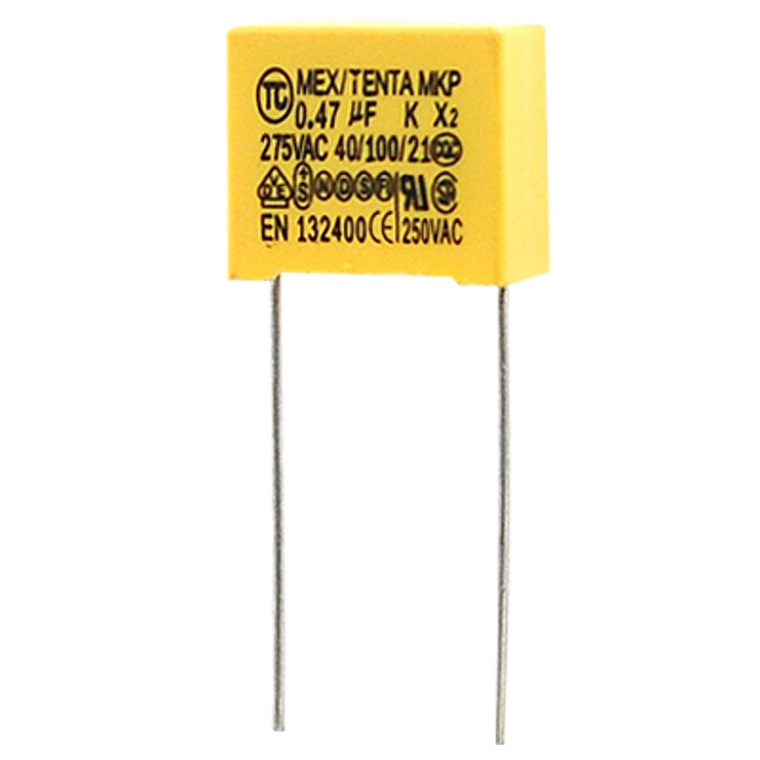 0.47uF Polypropylene Film DIP Safety Capacitors 10 Pcs