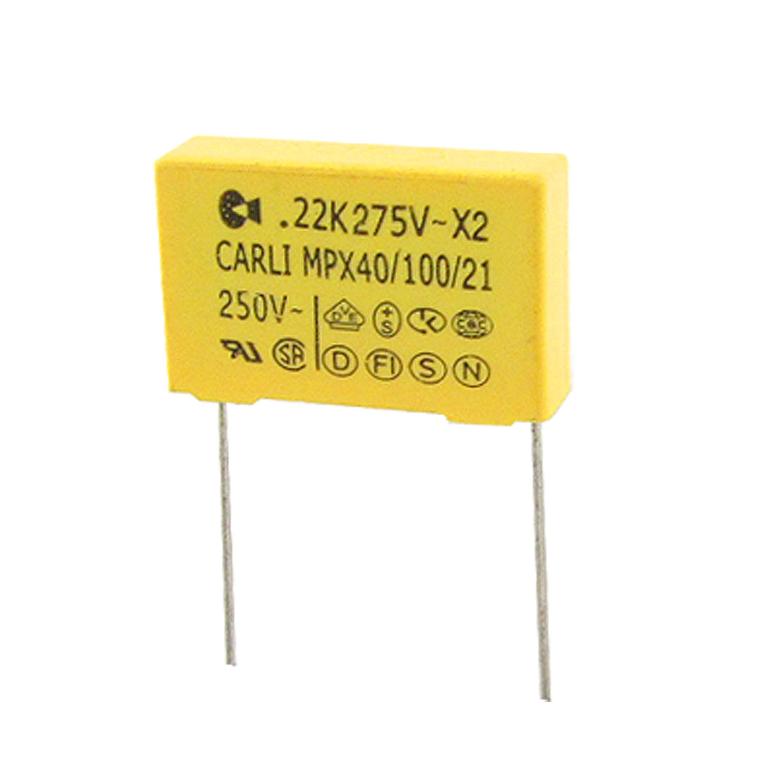 10 Pcs AC 275V 0.22uF Polypropylene Film DIP Safety Capacitors MPX X2