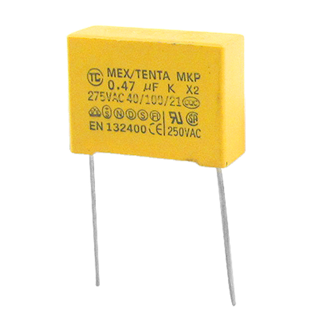 10 Pcs MKP X2 AC 275V 0.47uF Polypropylene Film DIP Safety Capacitors