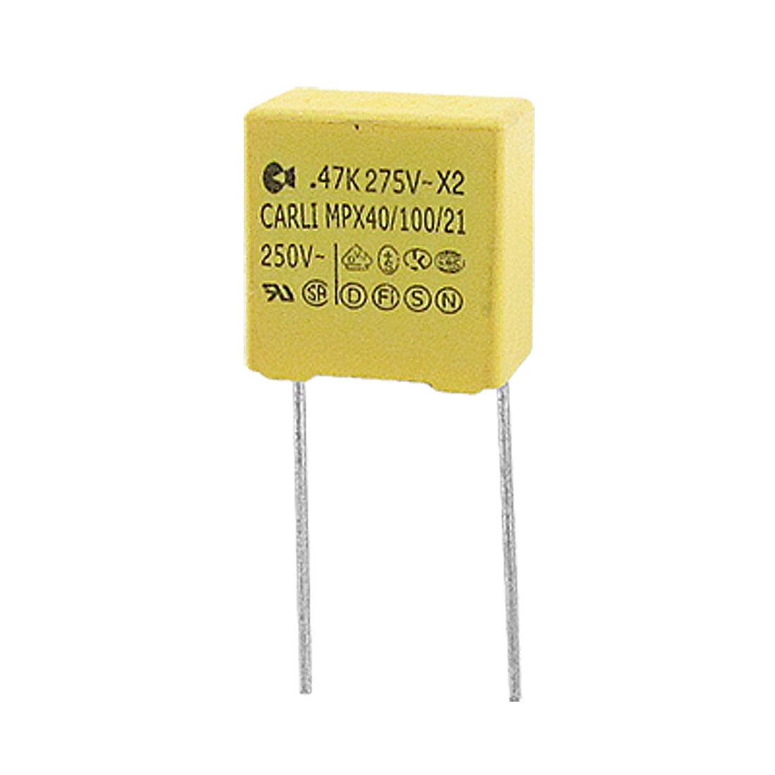 0.47uF 250VAC 10% Polypropylene Safety Capacitor 10 Pcs