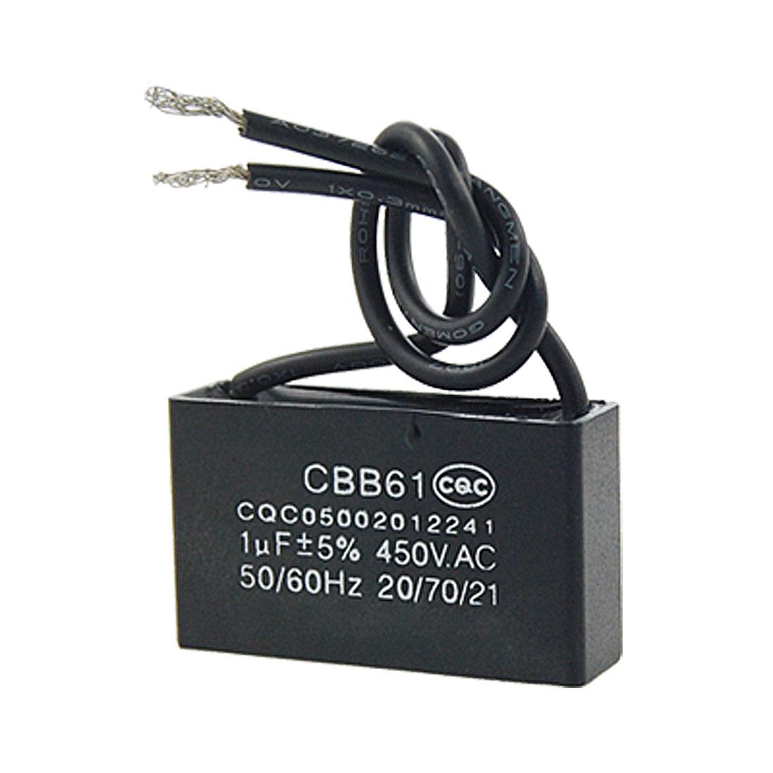 CBB61 1uF AC 450V Ceiling Fan Motor Running Capacitor