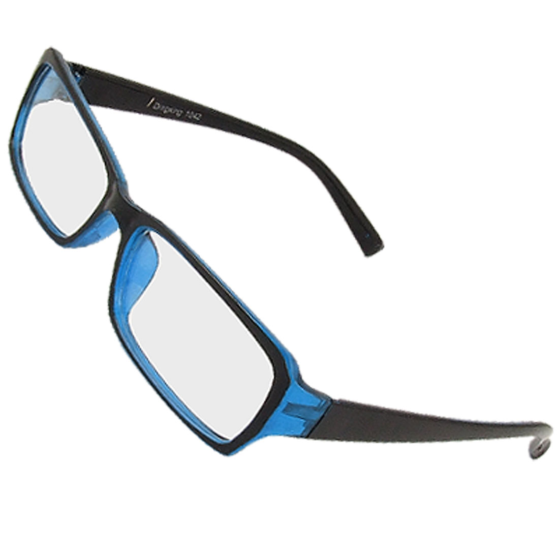 Black Blue Full Frame Clear Lens Plano Eyeglasses for Woman