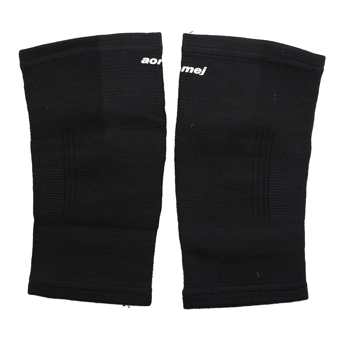 Sports Cotton Spandex Elastic Elbow Compression Surpprot Protector Black 2 Pcs