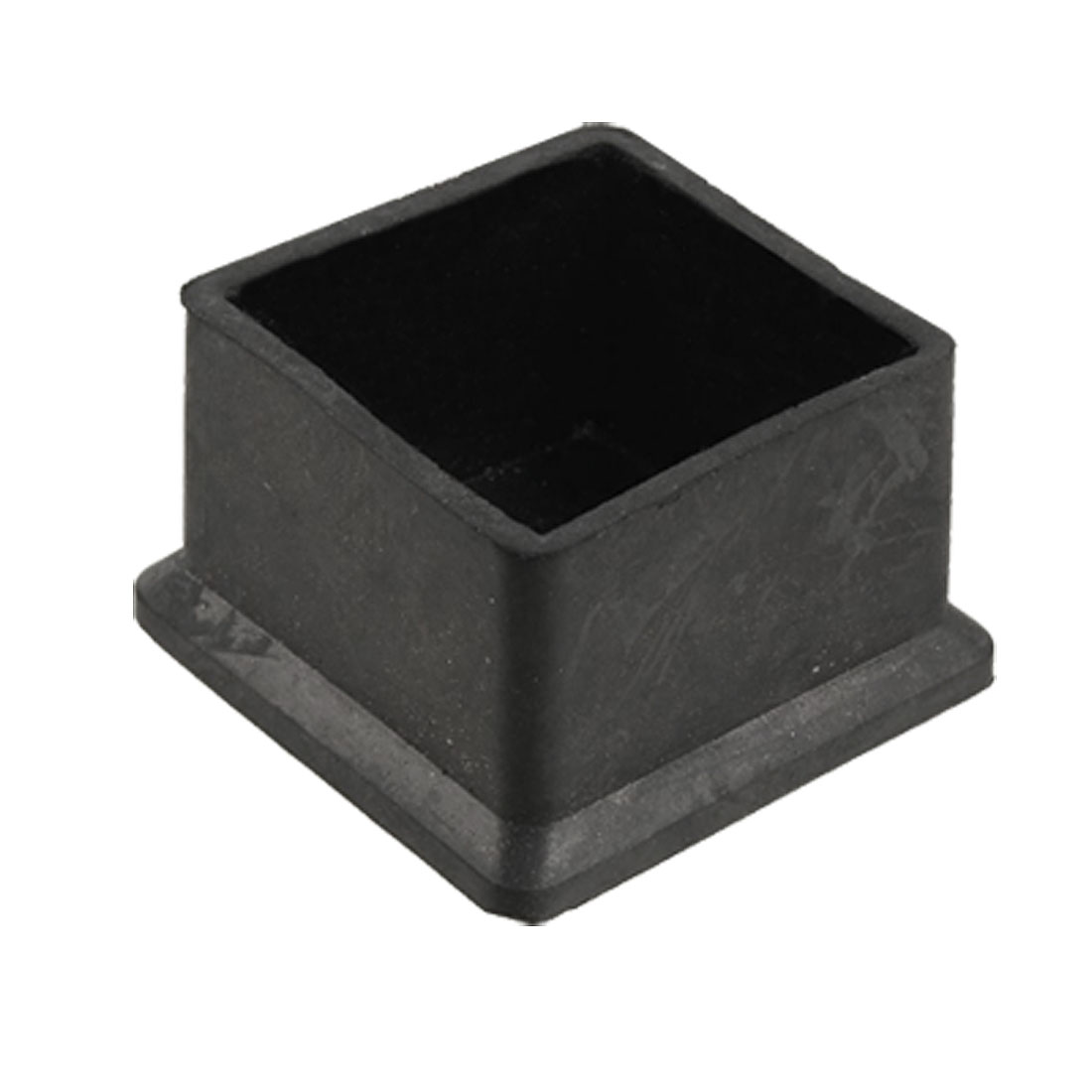 45mm x 45mm Black Square Rubber Foot for Table Desk Leg