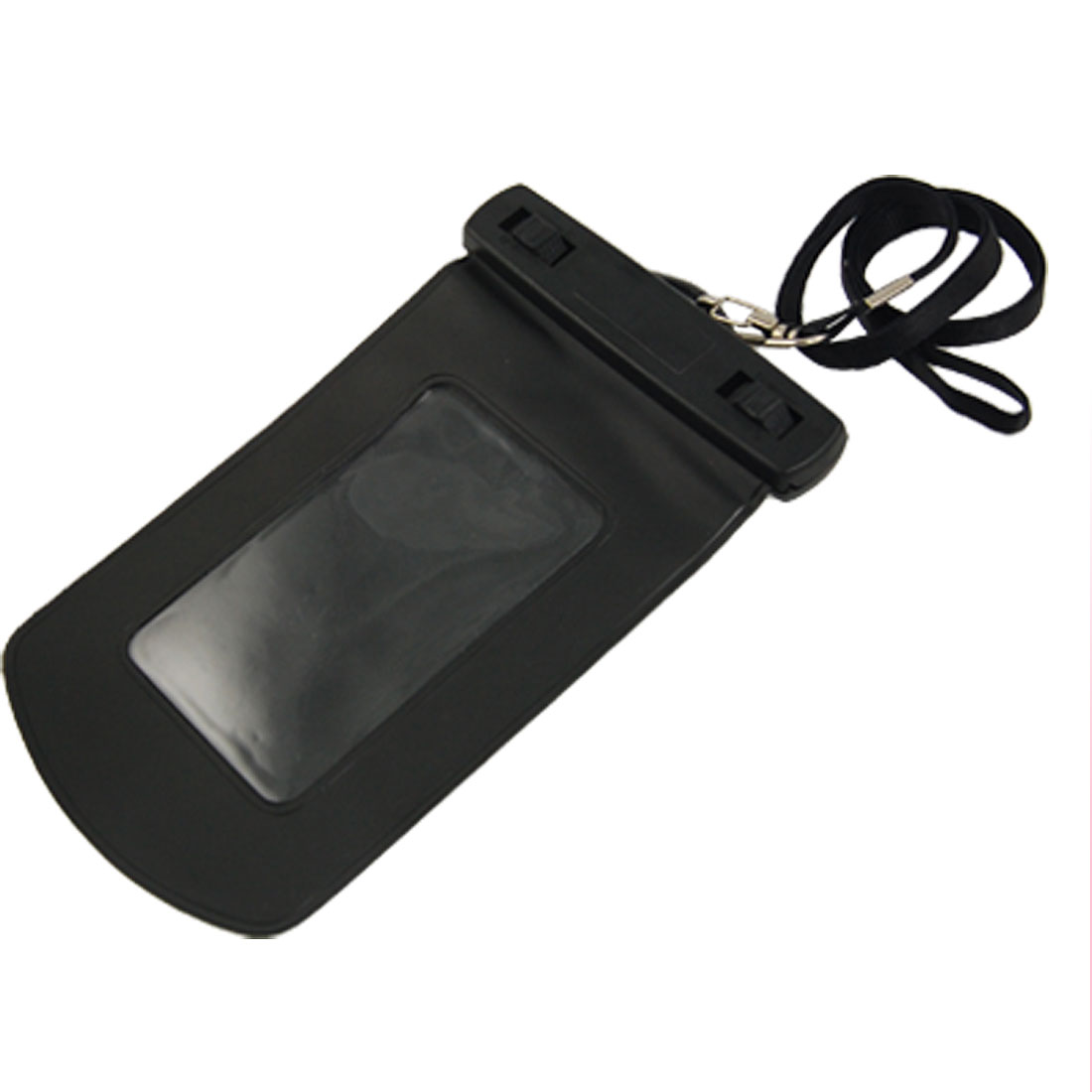 Water Resistant Bag Pouch w Strap Black for Cell Phone