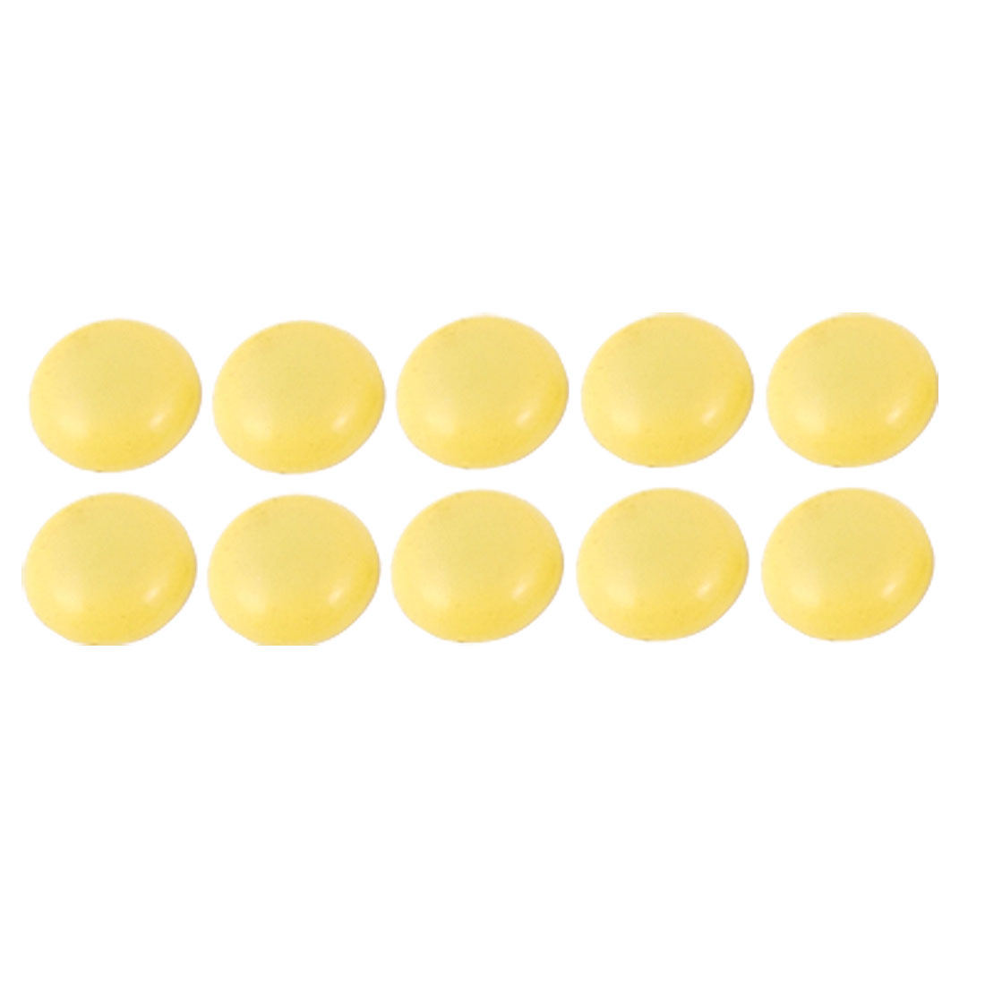 10 Pcs Office School Blackboard Yellow Plastic Cover Round Magnetic Stickers