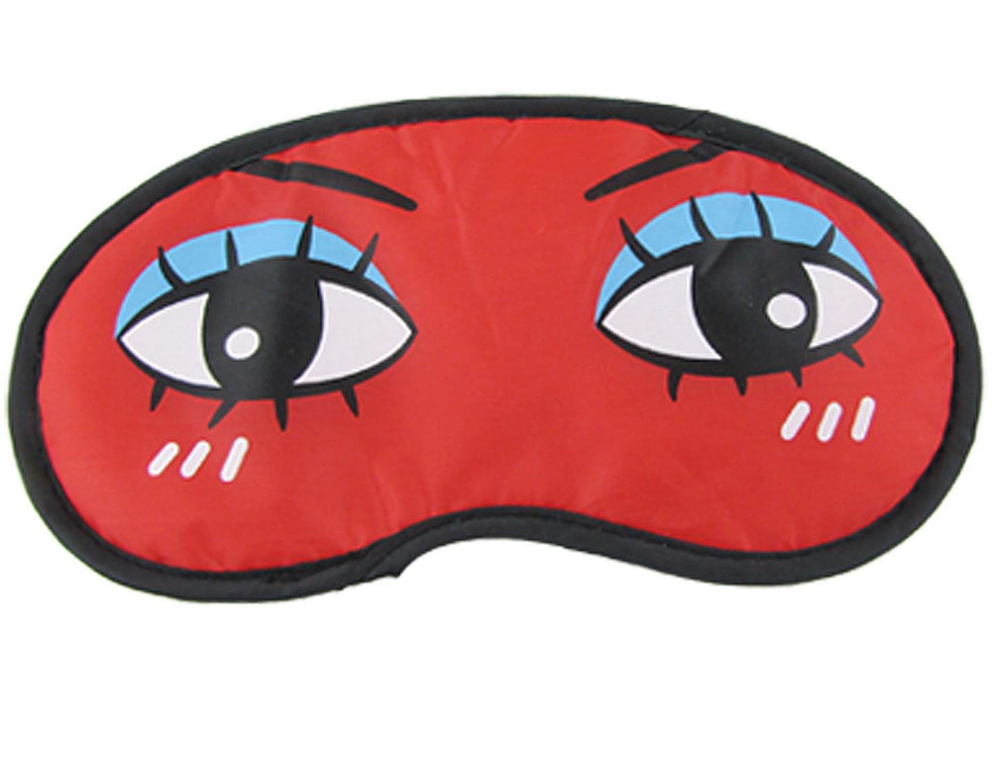 Black Reverse Side Cartoon Travel Sleeping Eye Mask Shade Cover Red