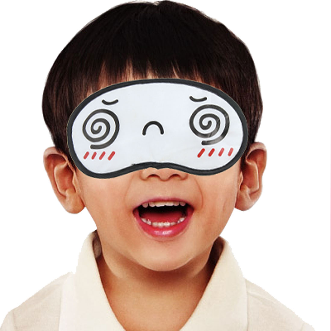 Cartoon Dizzy Eyes Pattern Eye Shade Mask Sleep Aid