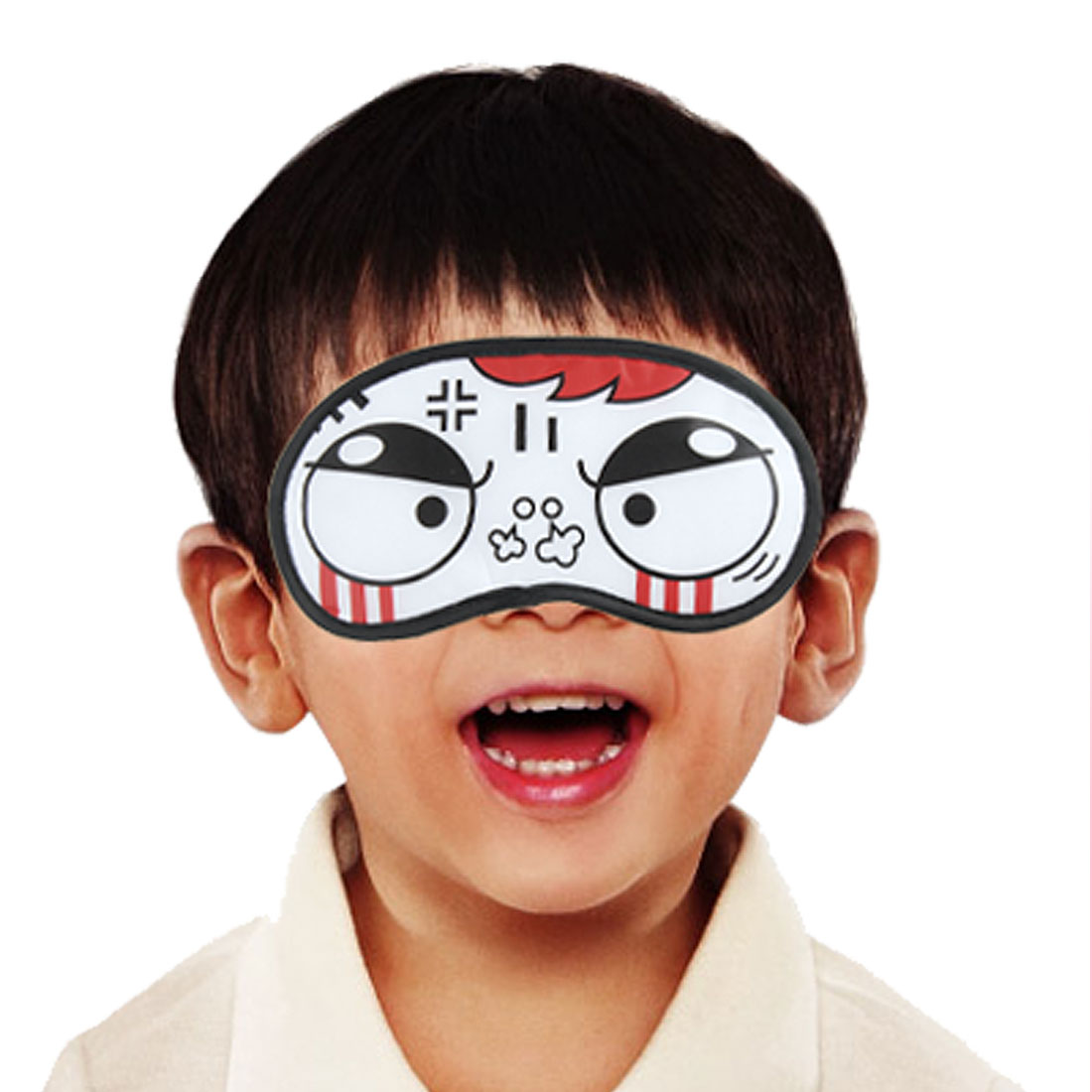 Black Rim Sad Cartoon Expression Eye Mask Shade