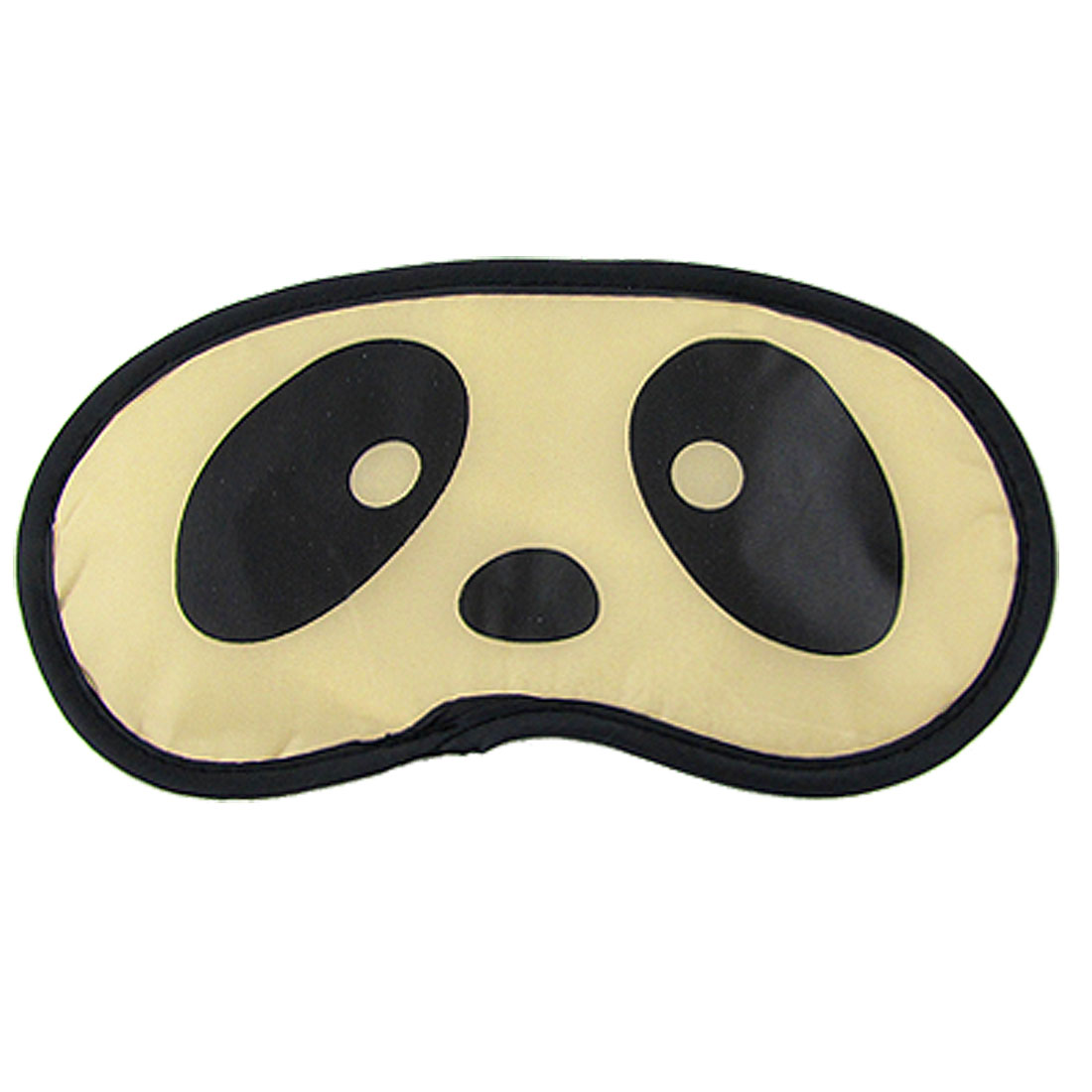 Cute Panda Face Print Soft Sleeping Cover Eye Shade Mask Patch Beige