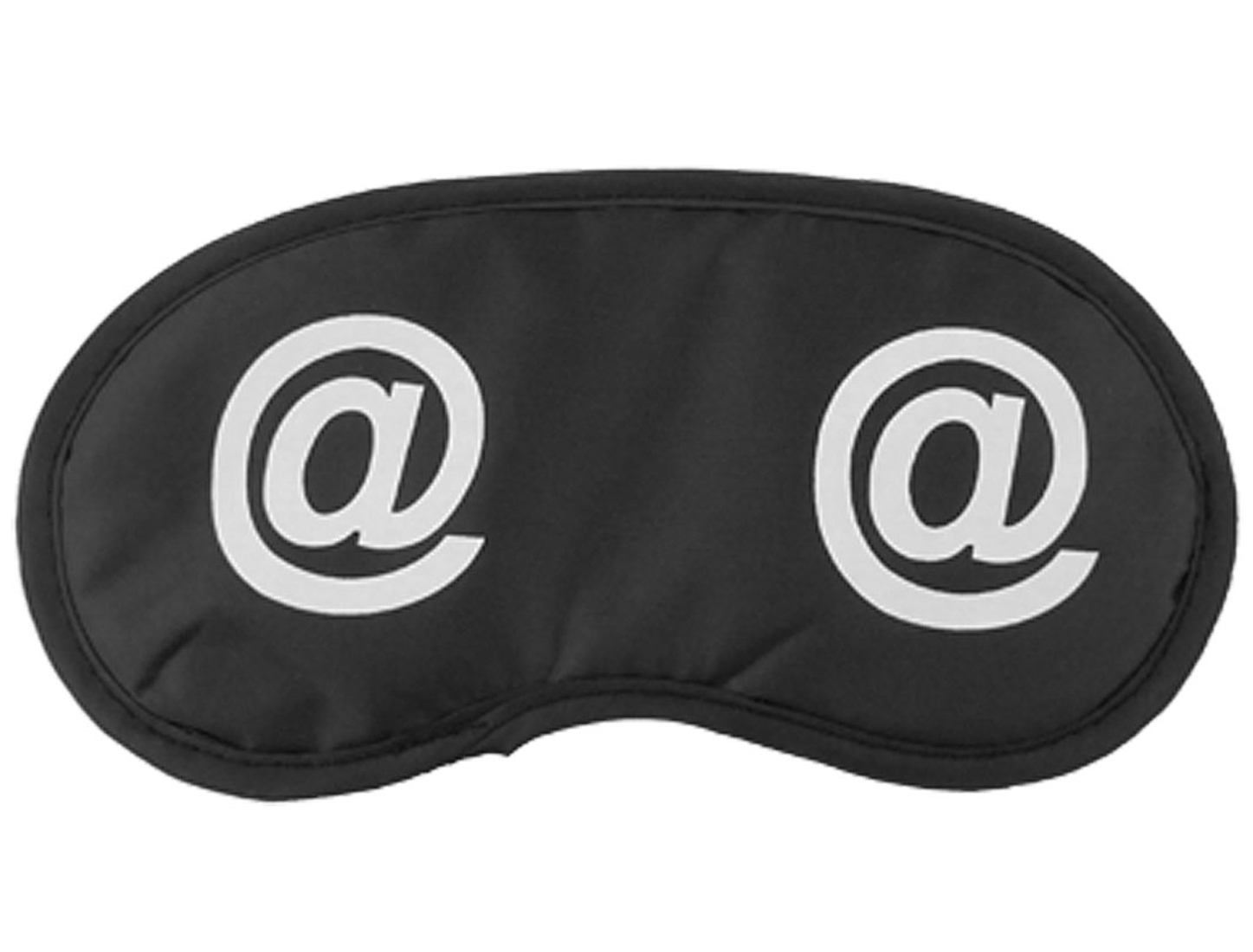 Cartoon Style Travel Sleeping Eye Mask Eyeshade Black