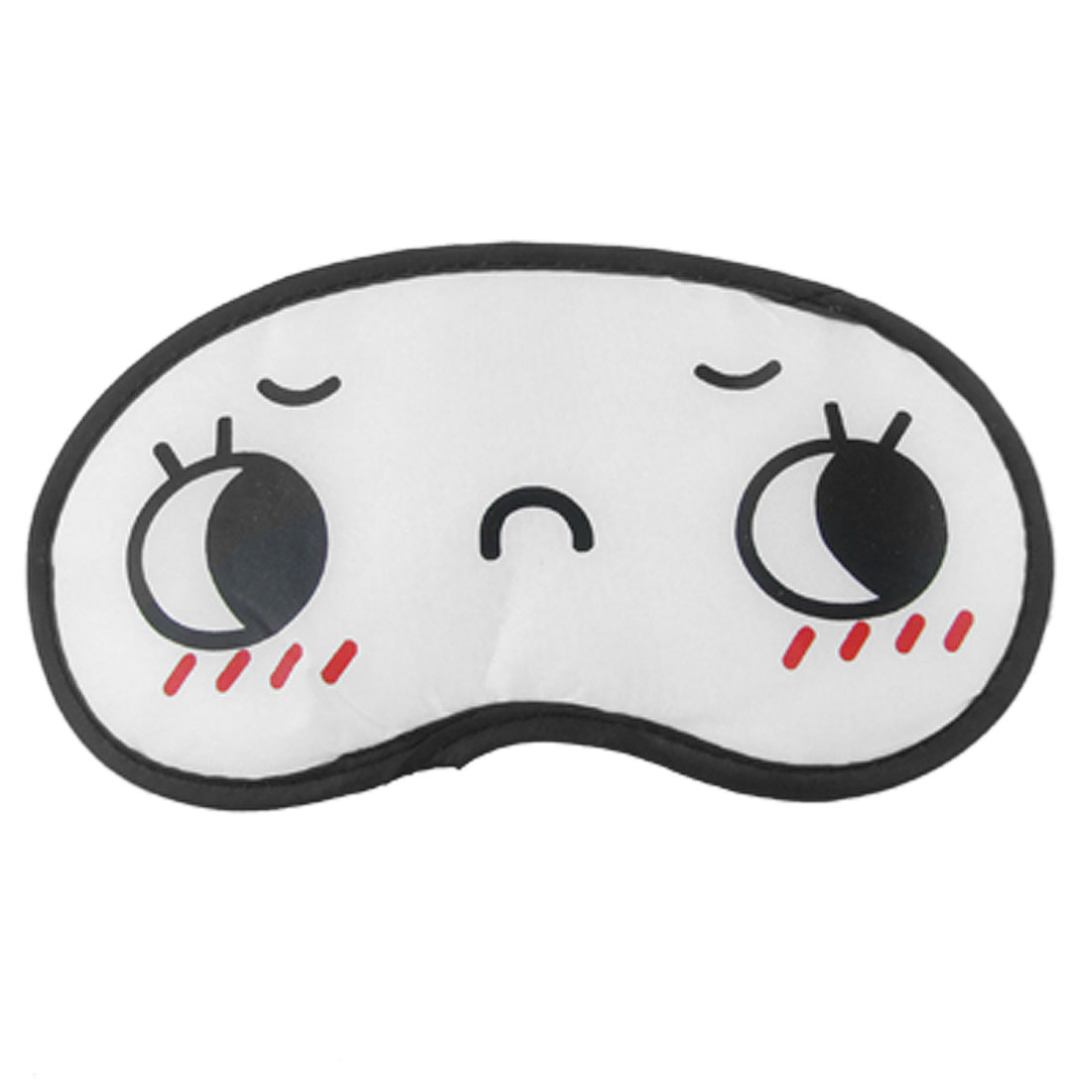 Elastic Band Cartoon Face Print Sleep Eye Shade Mask Cover White