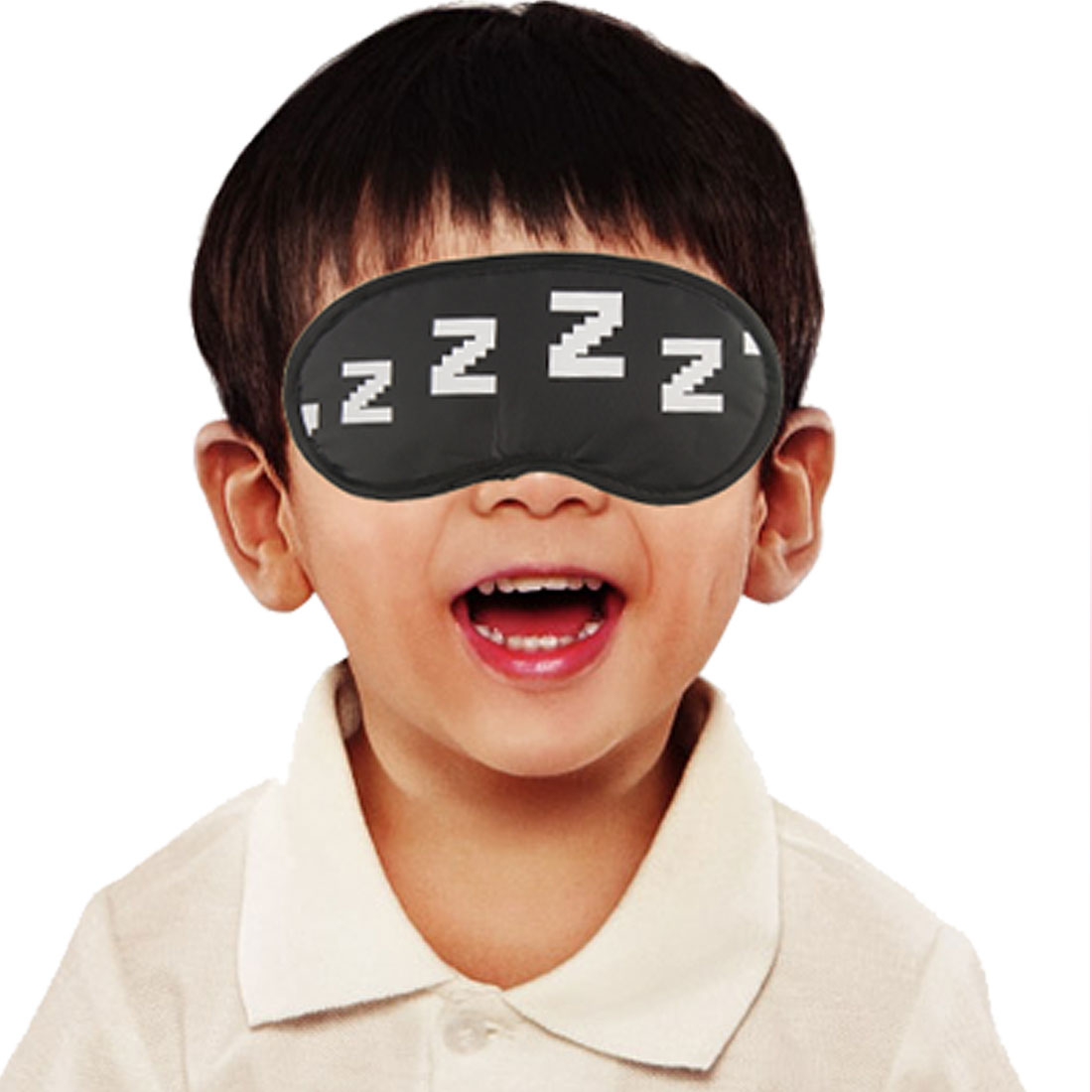 Elastic Band Letters Z Printed Eye Mask Sleeping Aid Eyeshade