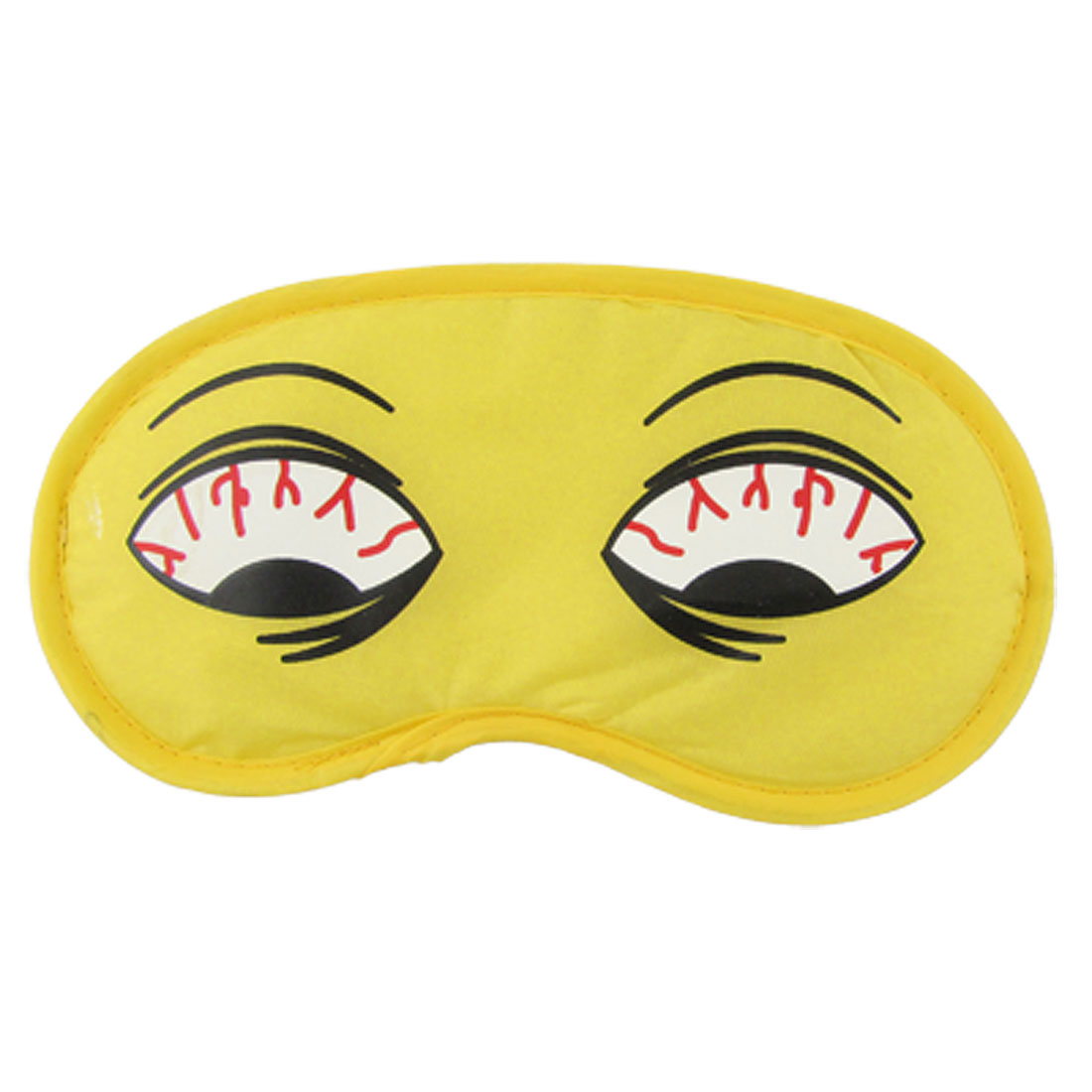 Elastic Strap Nylon Cartoon Sleeping Eye Mask Eyeshade Yellow