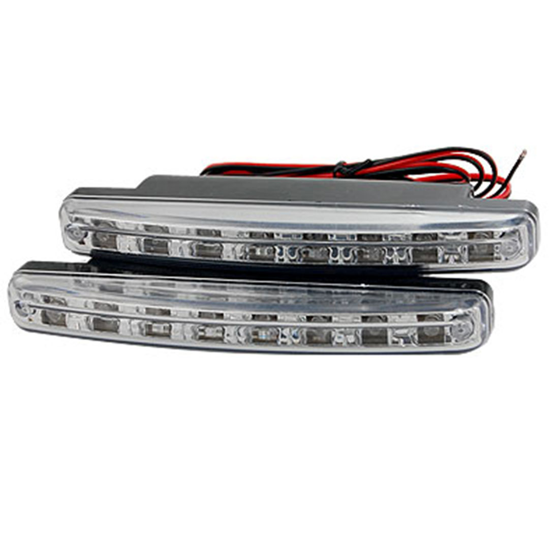 2 Pcs 0.3W 8 LEDs Daytime Running Light Lamp for Car Vehicle