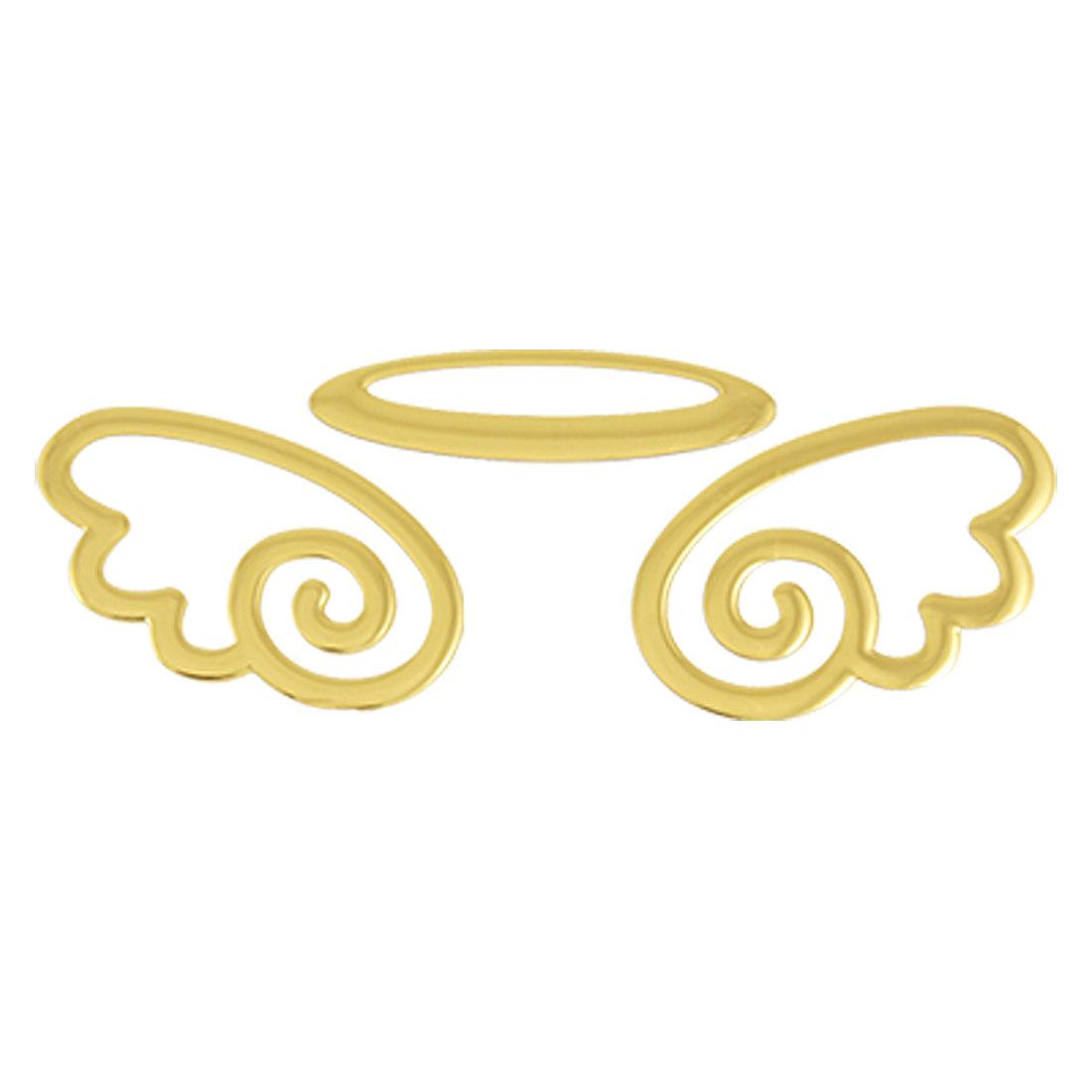 Car Auto Rear Emblem Logo Gold Tone Flying Angel Self Adhesive 3D Sticker
