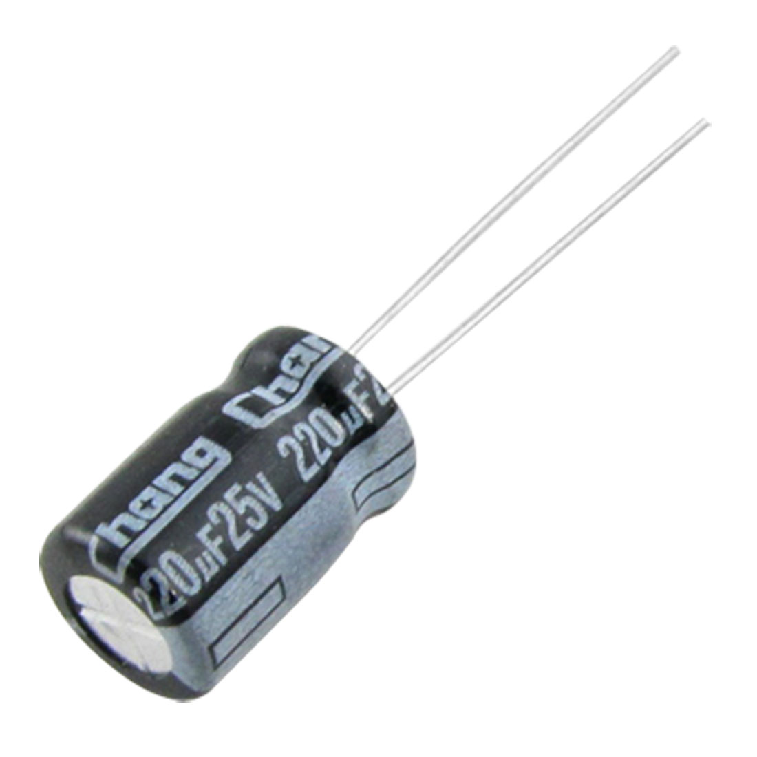 100 Pcs 8x12mm 220uF 25V 105C Aluminum Electrolytic Capacitors
