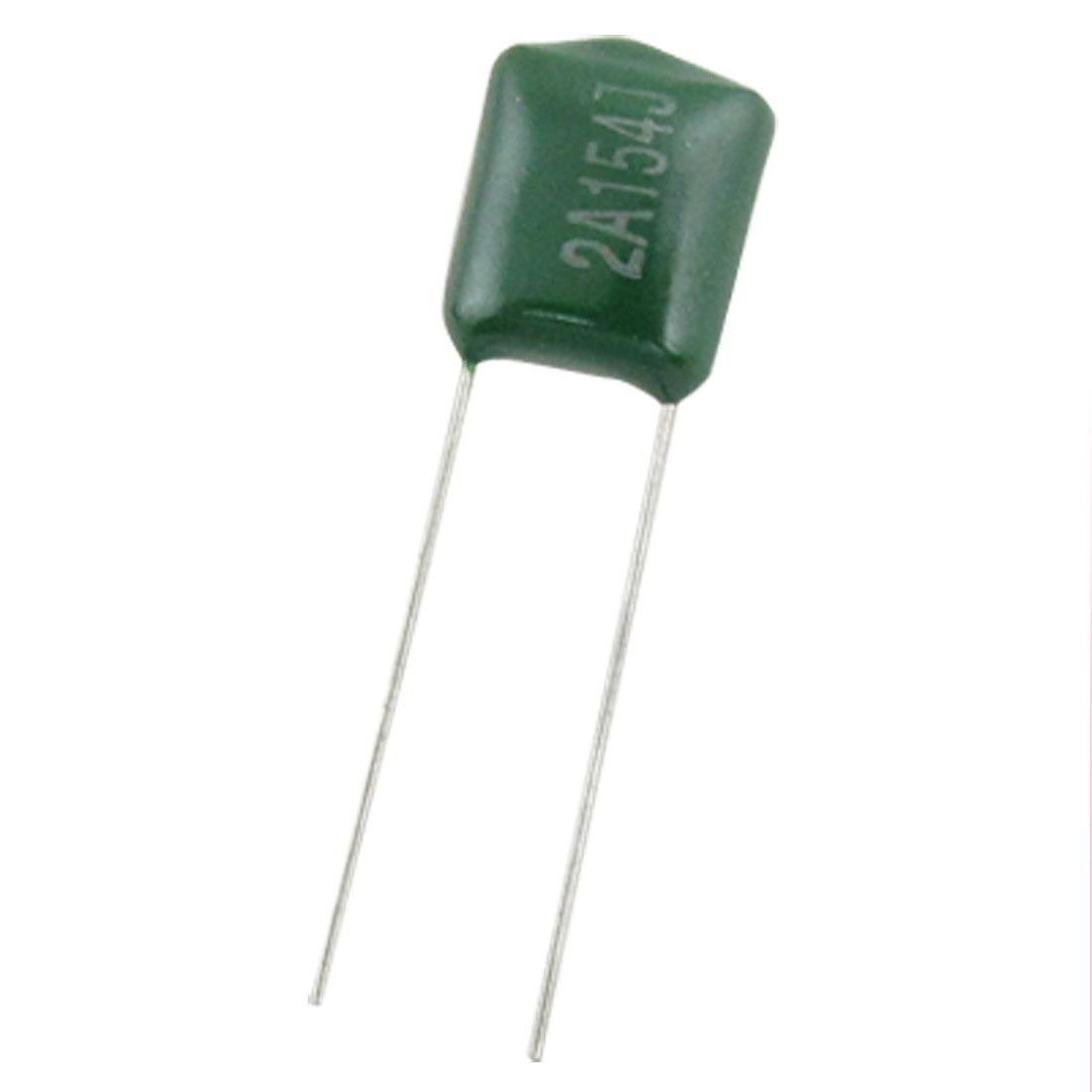 50 Pcs 100V 0.15uF 150nF 150000pF Polyester Film Capacitors
