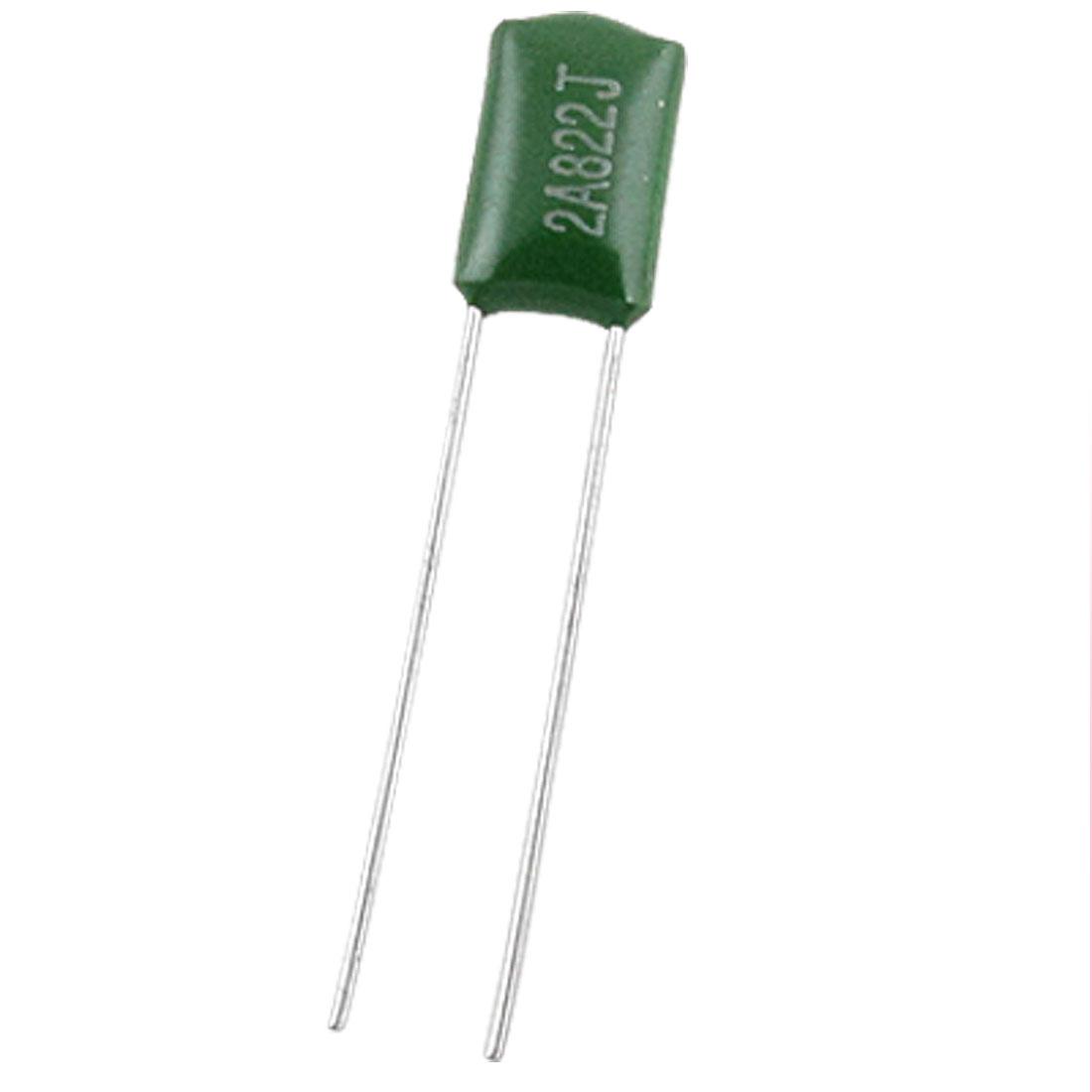 50 Pcs 0.0082uF 8200pF 100V Non Polar DIP Polyester Film Capacitors