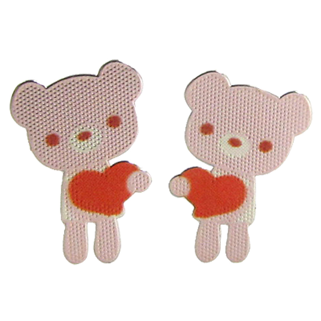 2 Pcs Love Bear Design Sticker for Phone PC