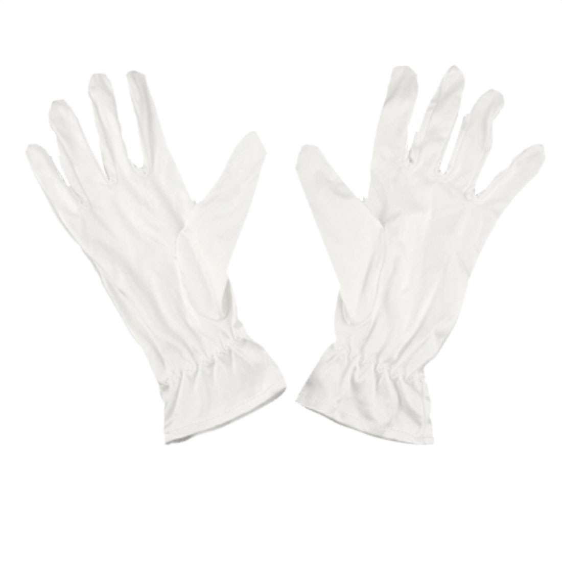Pair Elastic Clean Room Dust Proof Full Fingers Working Work Gloves