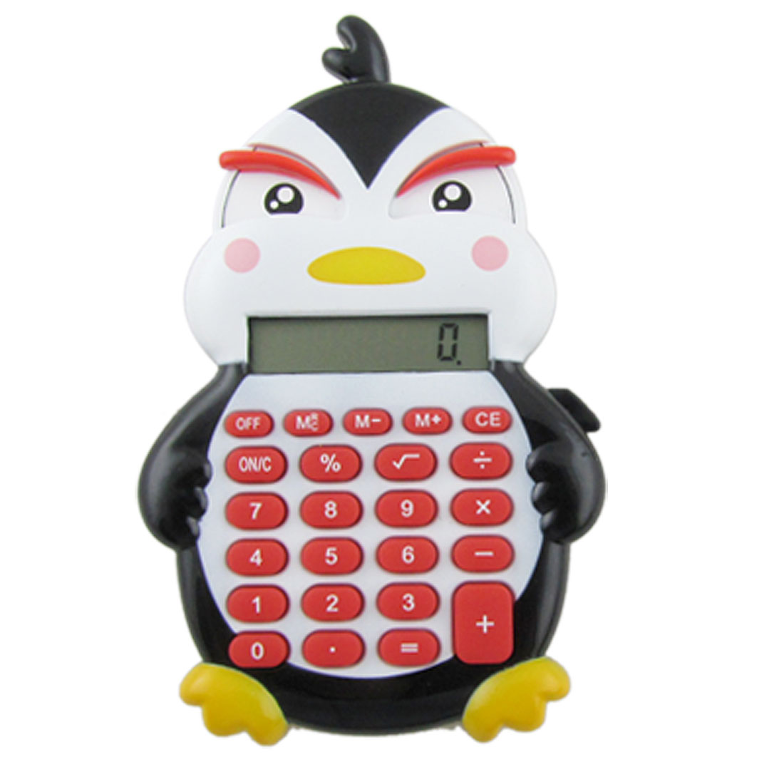 Plastic Keypad 8 Digits Duck Design Electronic Calculator Black