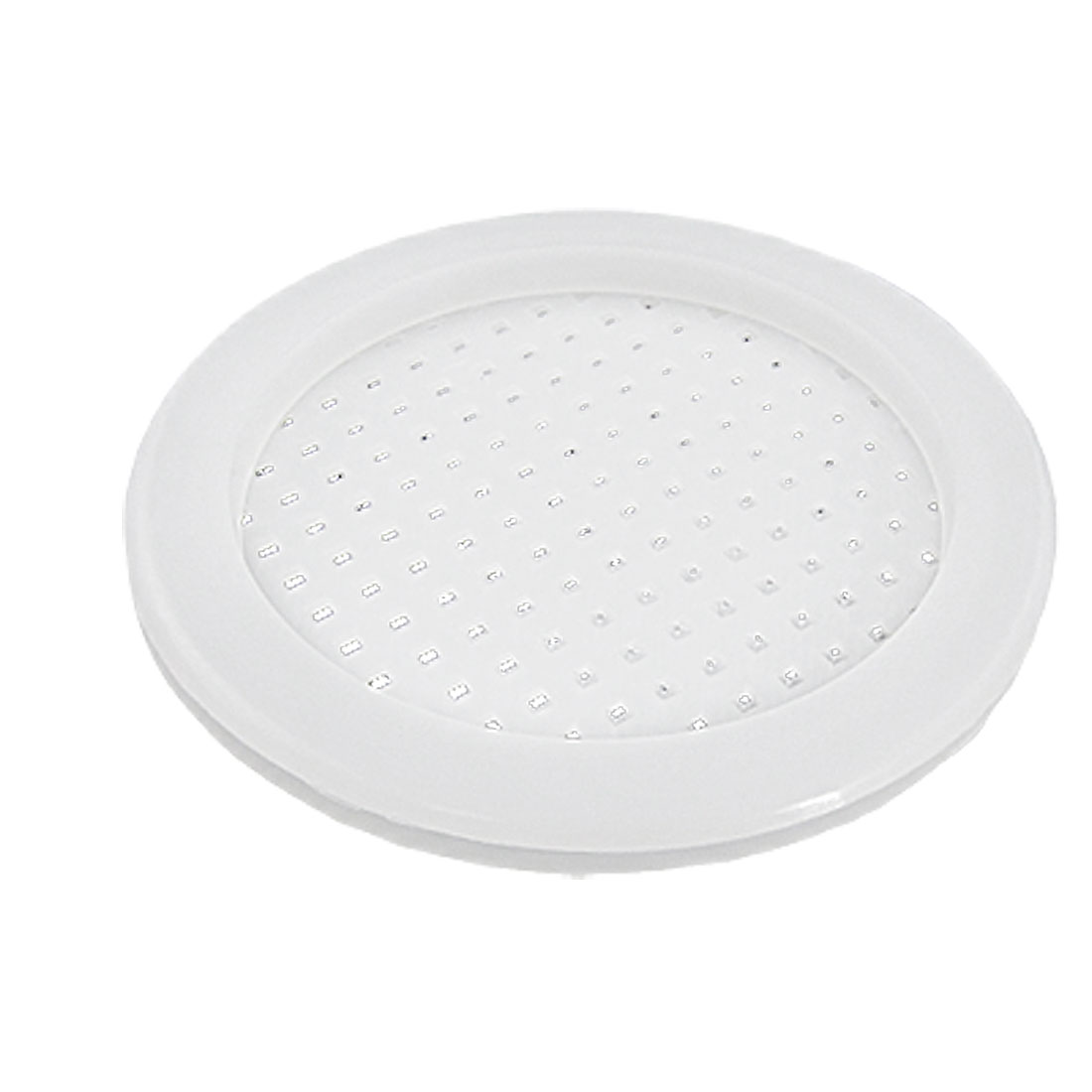 "2 Pcs White Plastic Round Holes Design 2"" Outlet Sink Basin Strainer"
