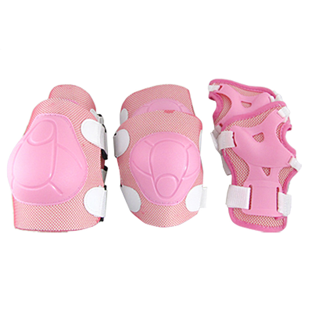 Children Elbow Knee Wrist Support Protector Pink Set