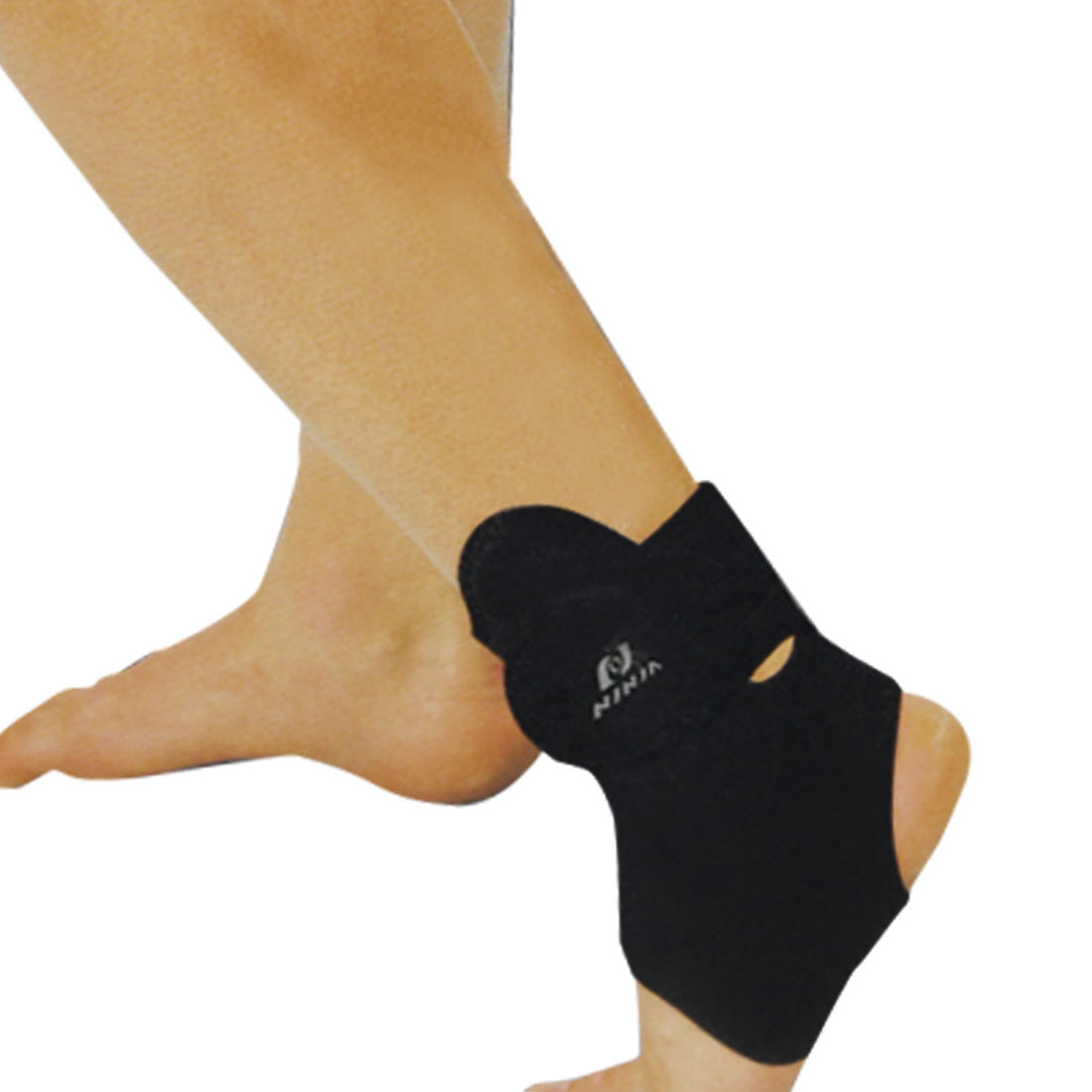 Black Adjustable Stretchy Neoprene Ankle Support Protector