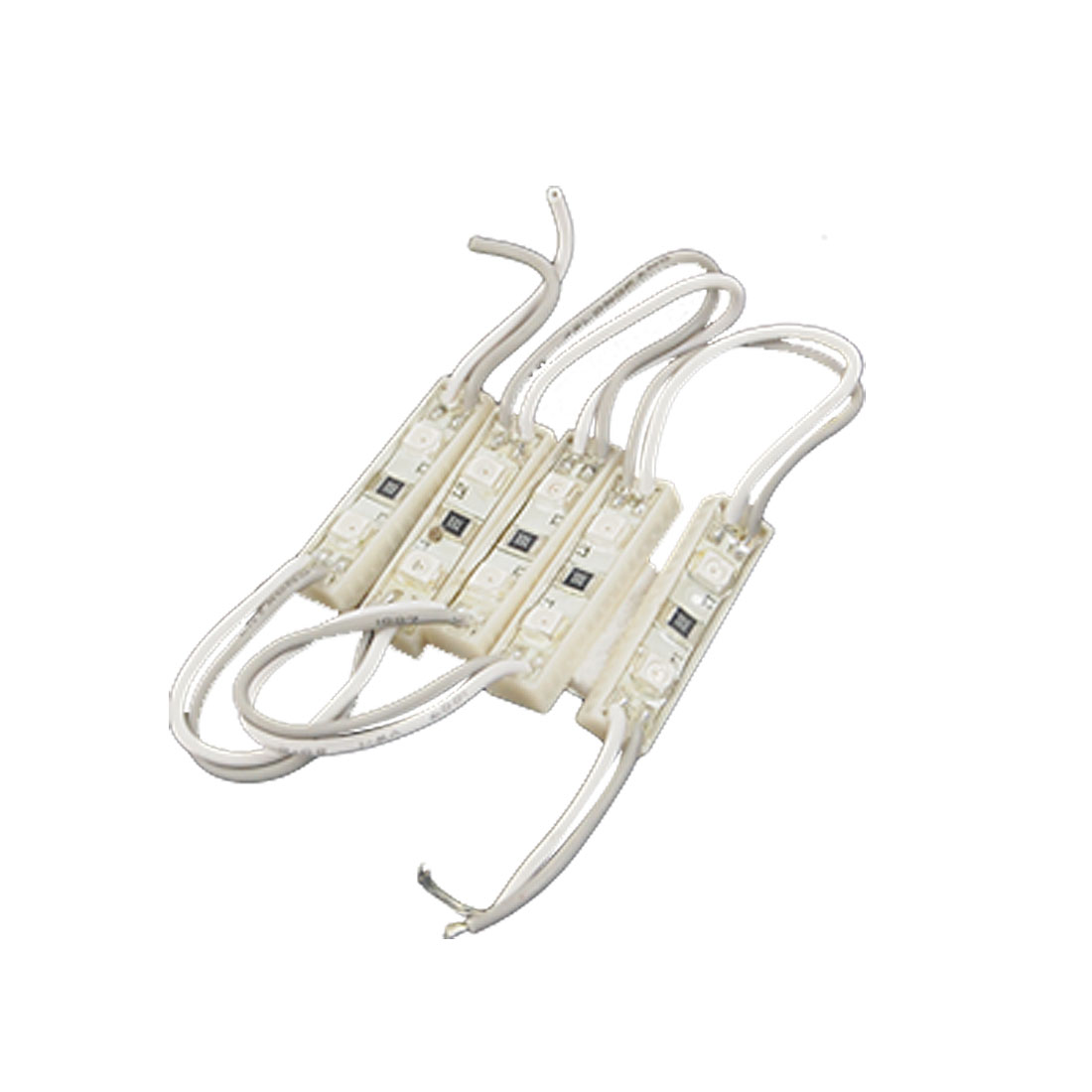 Water Resistance DC12V SMD 3528 10-LED 5 Modules Red Light Lamp
