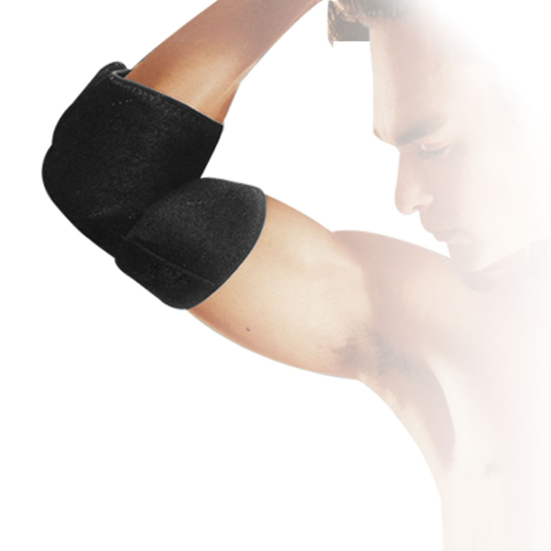 Black Elastic Adjustable Elbow Portective Brace Support