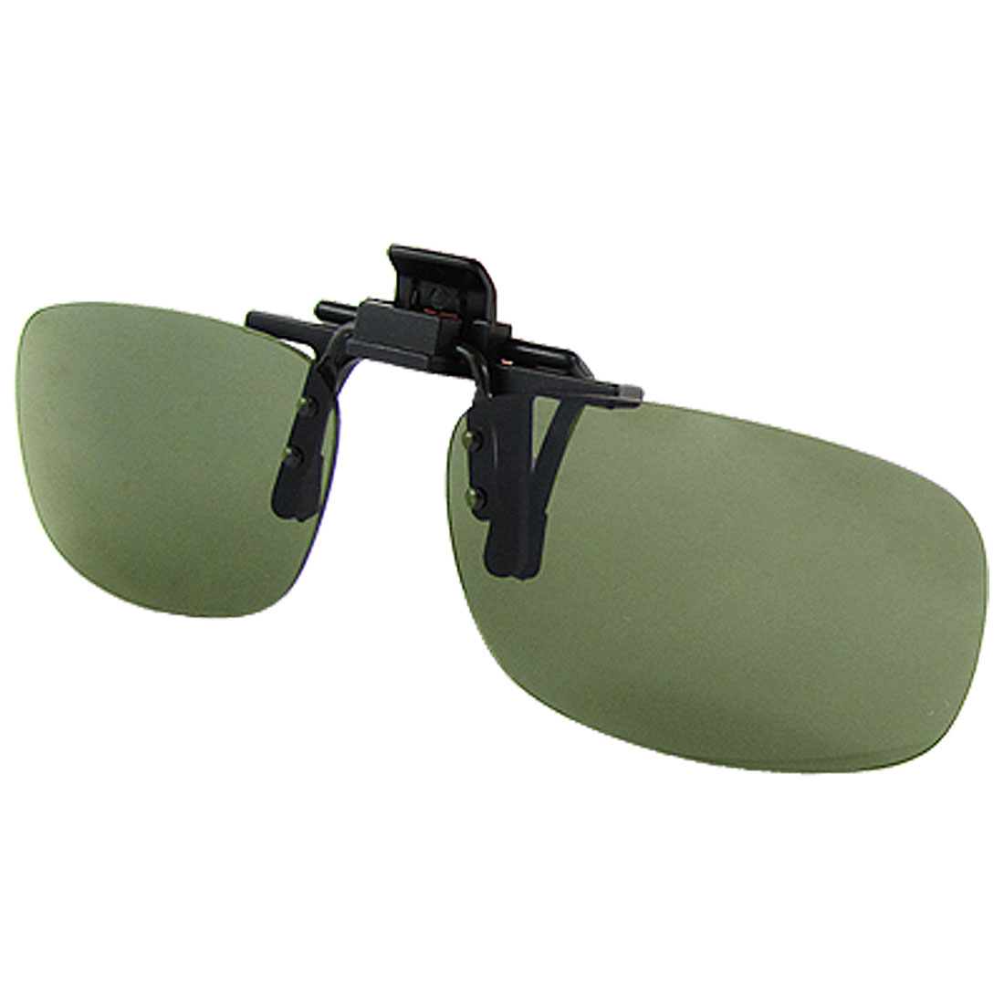 Sports Frameless Olive Green Lens Flip up Clip Sunglasses for Men