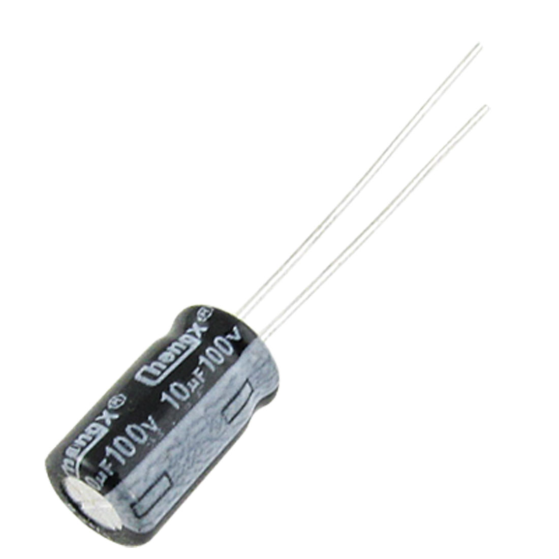 100 Pcs 6.3x11mm 100V 10uF Aluminum Electrolytic Capacitors