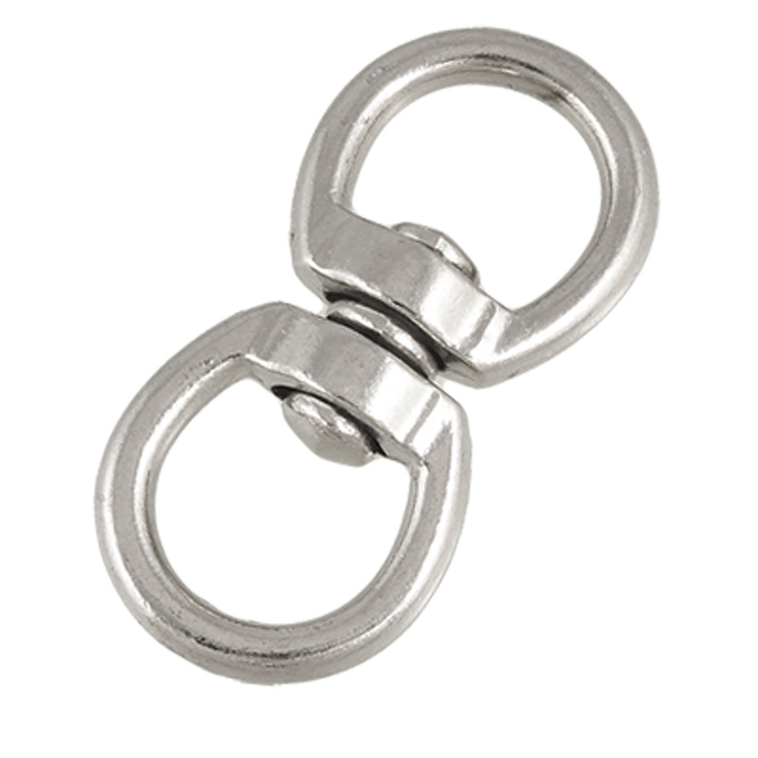 Silver Tone Double Ended Zinc Alloy Swivel Eye Hook Shackle Size 4