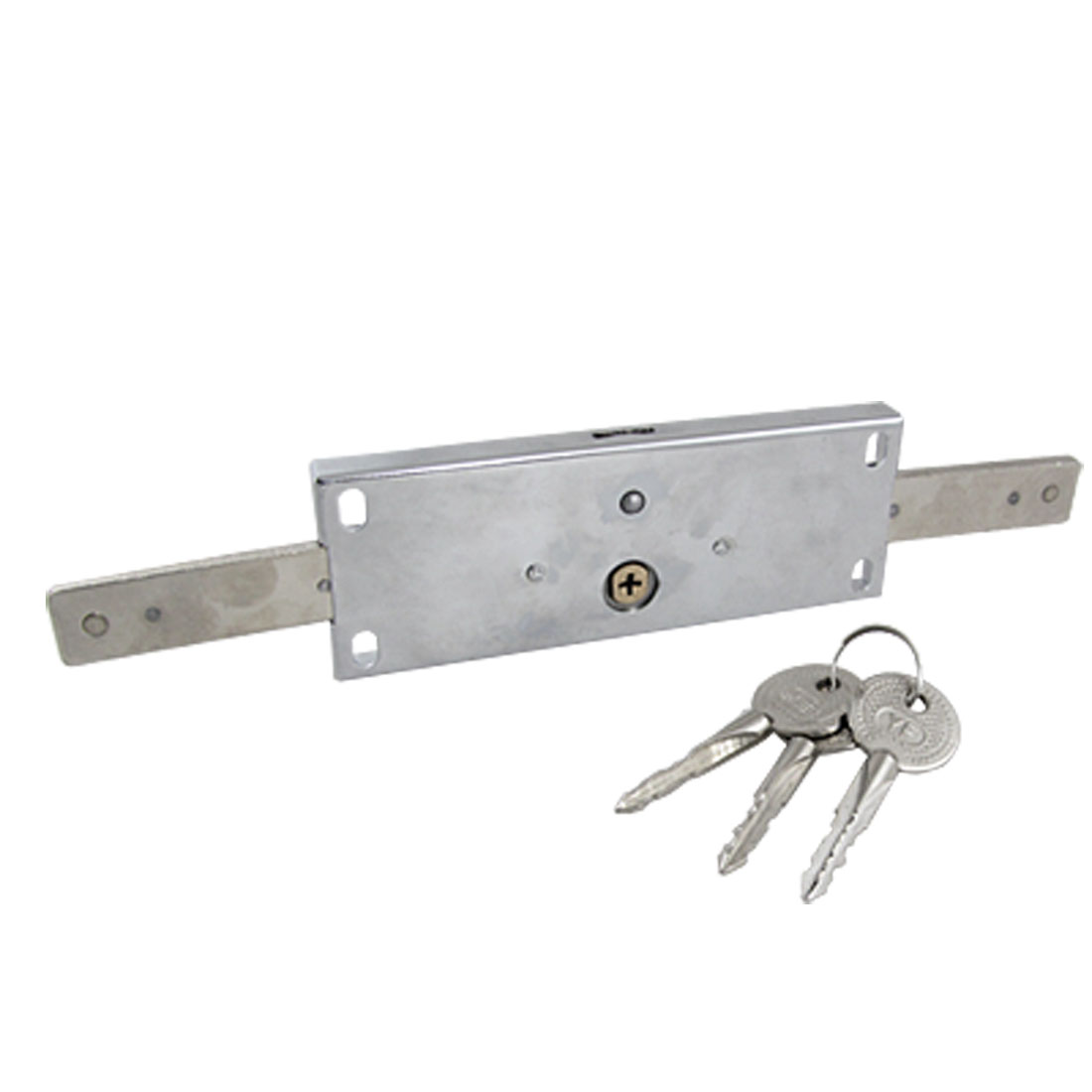 Stainless Steel Cross Rolling Shutter Door Lock w 3 Keys