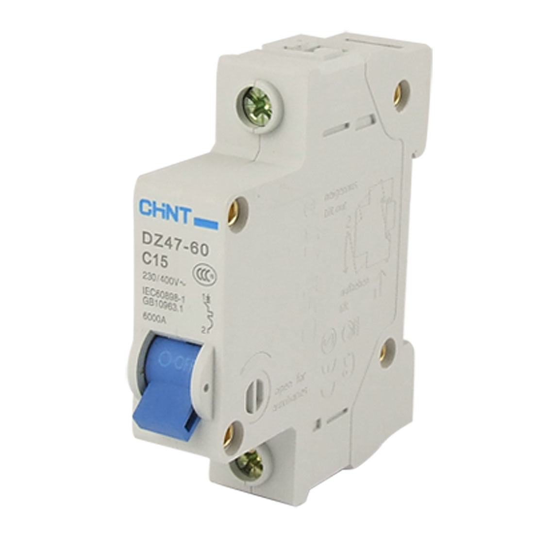 DZ47-60 15A Single Pole MCB Miniature Circuit Breaker