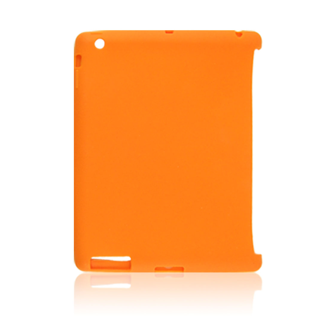 Protective Orange Soft Silicone Skin Cover for iPad 2nd Gen