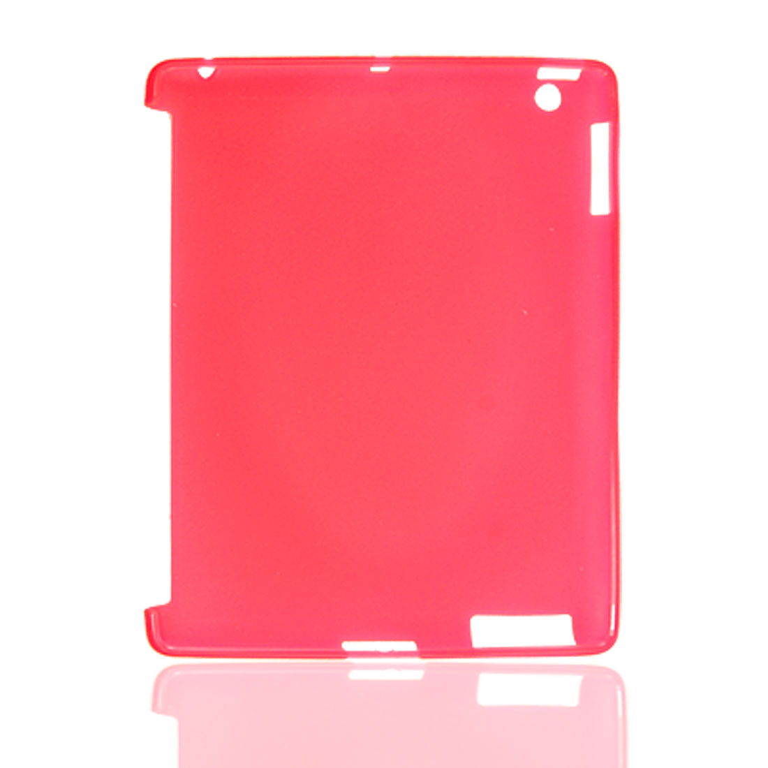 TPU Silicone Hot Pink Back Cover Guard for Apple iPad 2