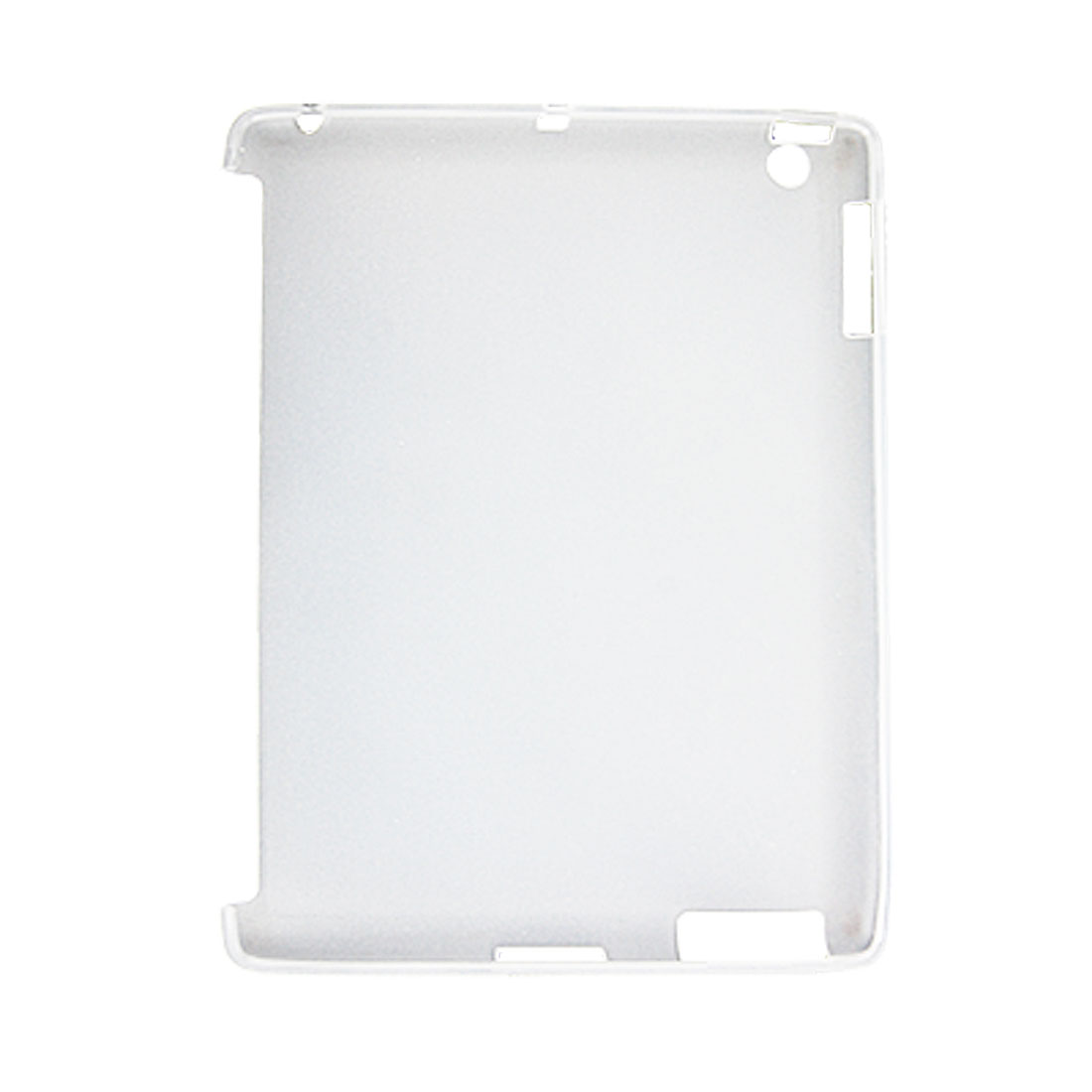 Protective TPU Silicone Clear White Back Cover Case for Apple iPad 2