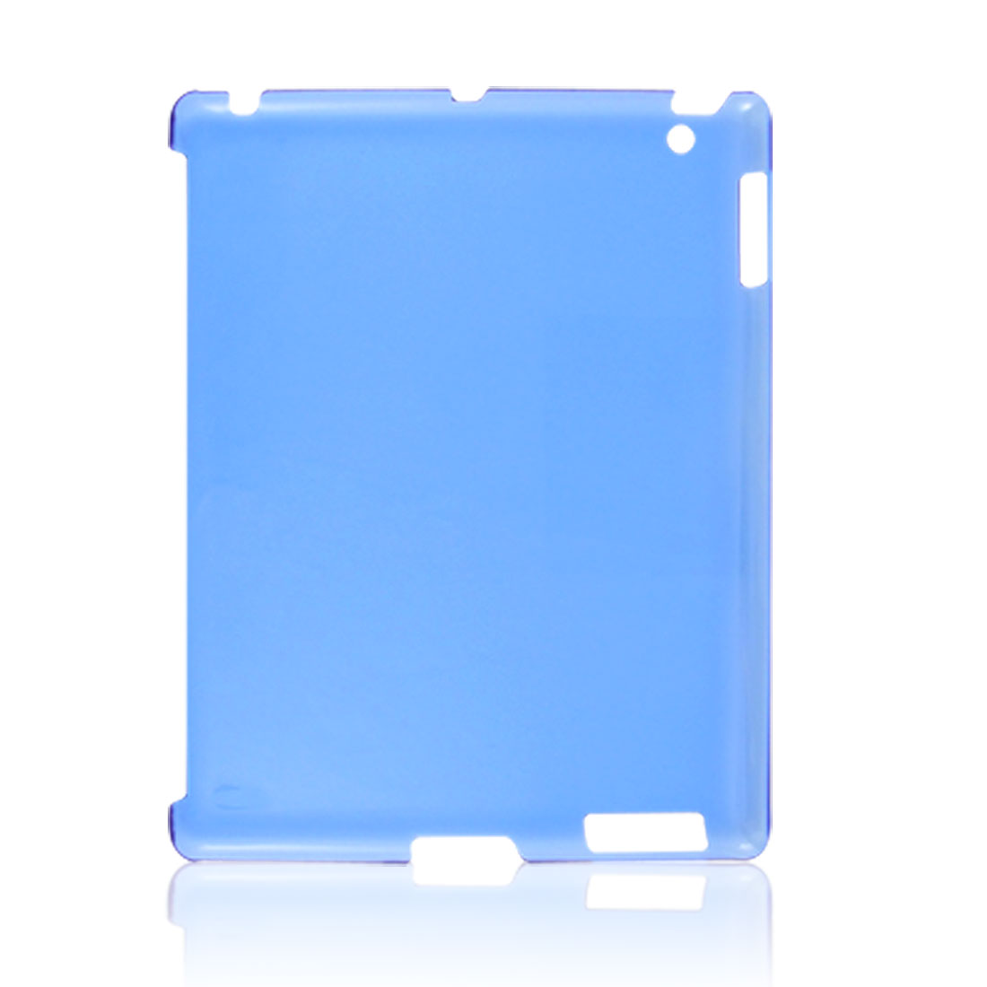 Hard Plastic Smooth Clear Sky Blue Back Case Cover for iPad 2